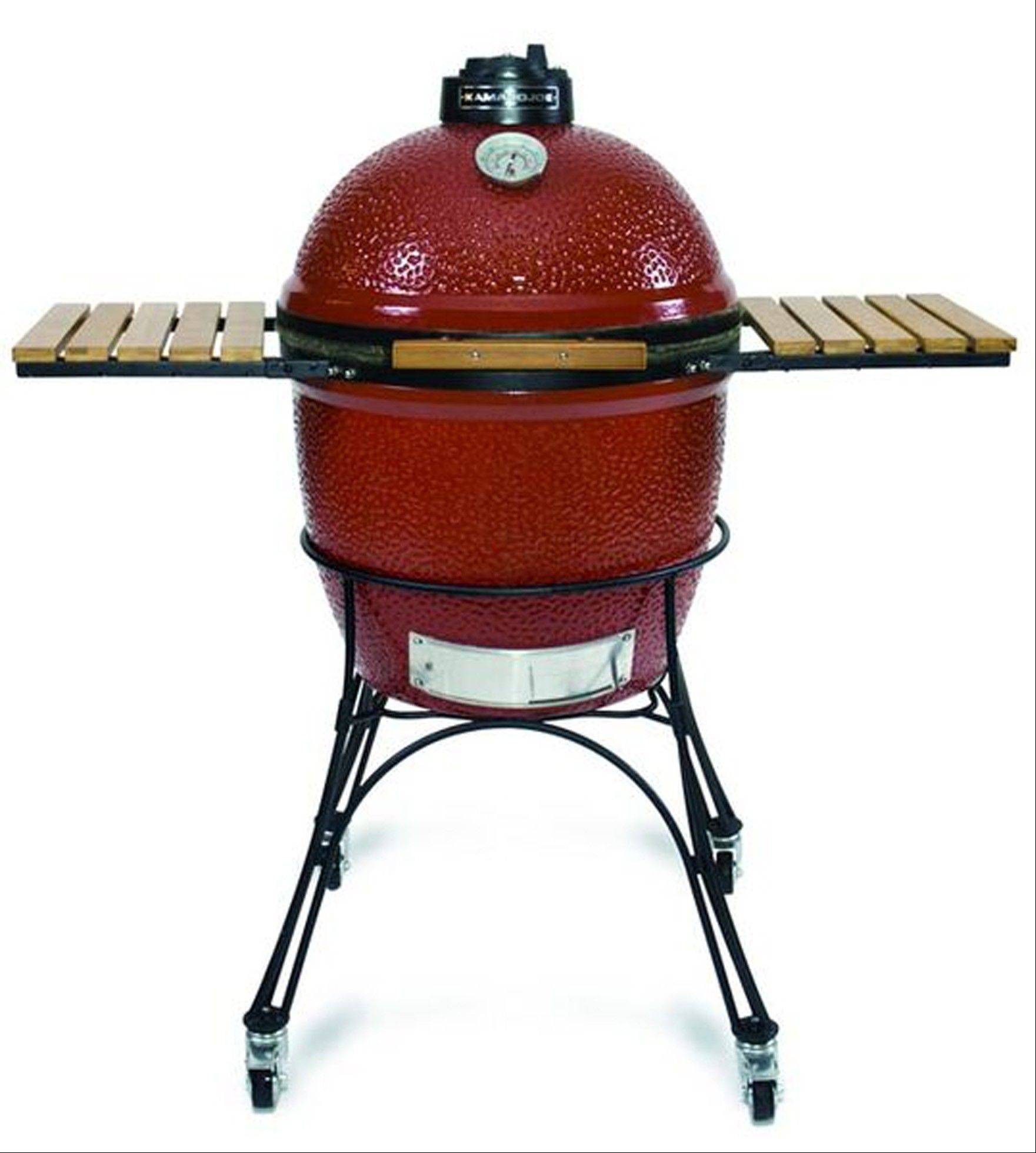 A Kamodo Joe ceramic cooker would make a nice substitute for the reader's kettle grill.