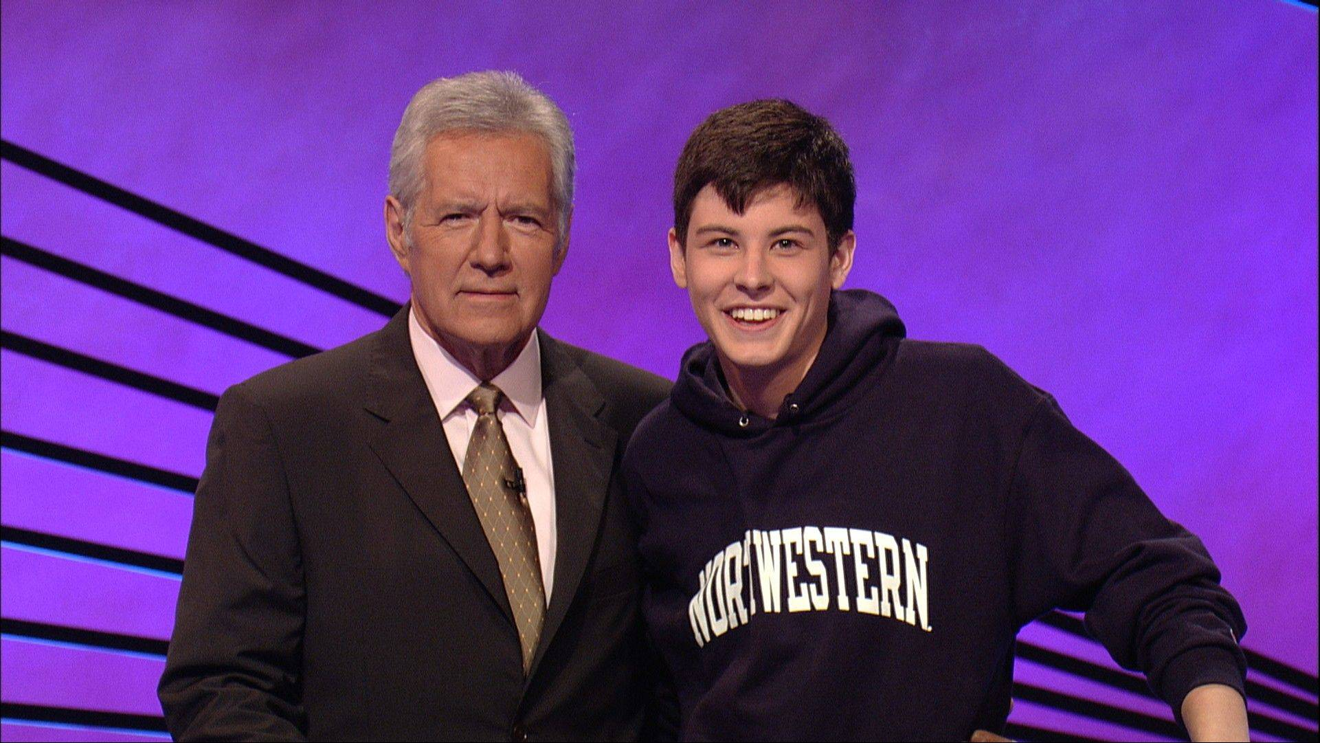 "Dan Donohue with ""Jeopardy!"" host Alex Trebek."