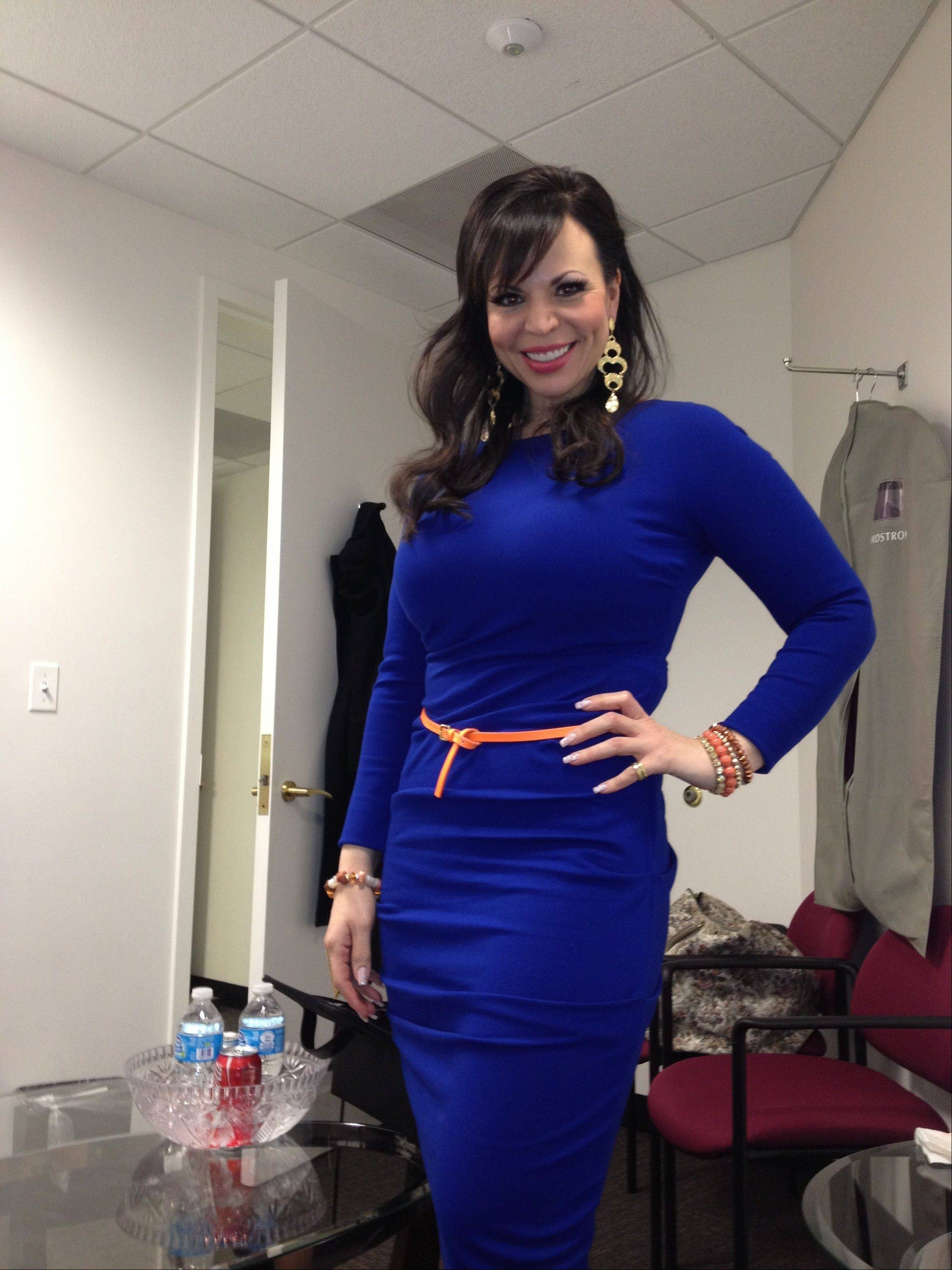 In the green room preparing for her TV gig on the Steve Harvey show, Renee Trikolas says dating as a single mom all revolves around what is best for her kids.