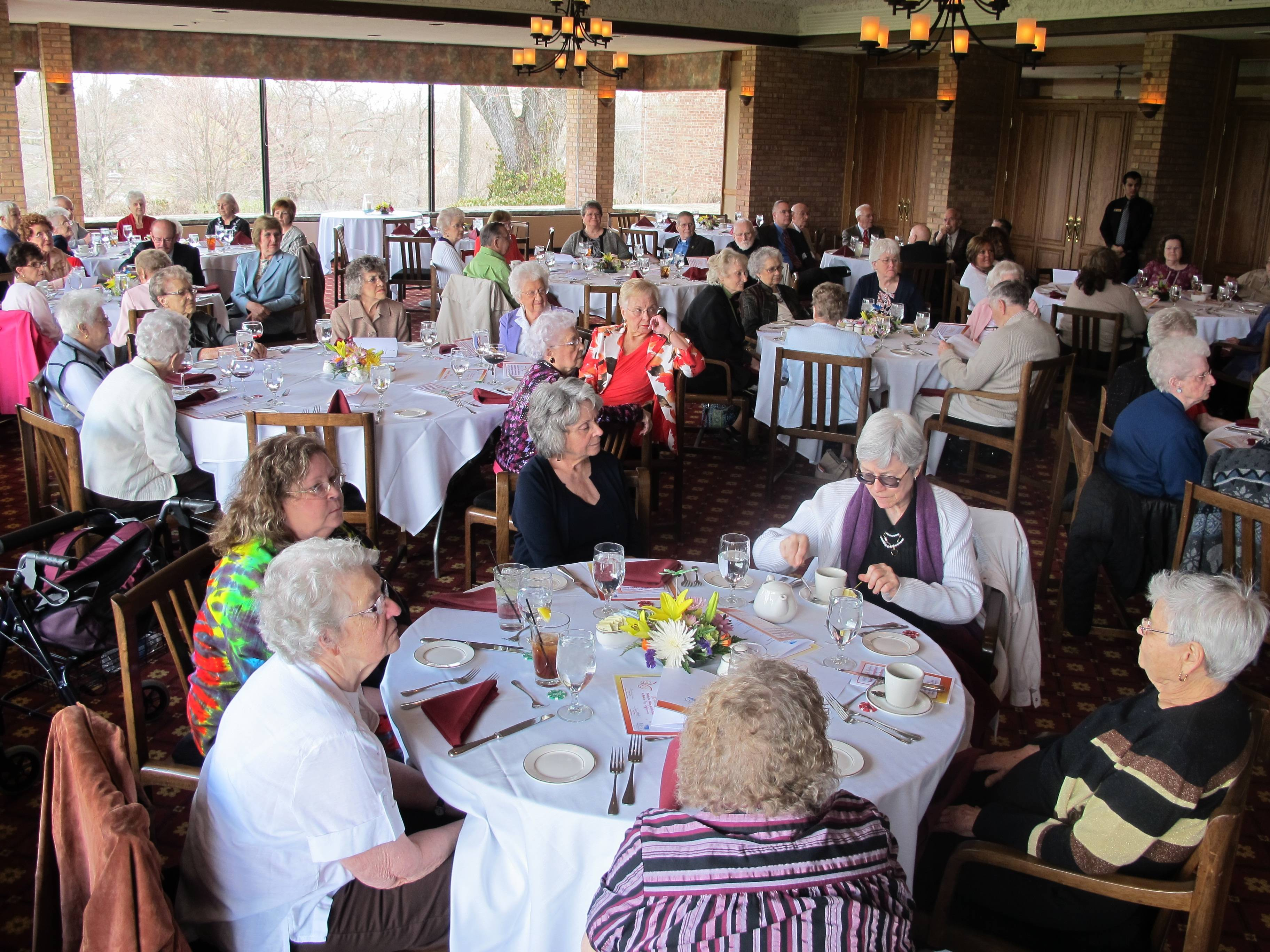 Vista volunteers are honored for their service in 2012 at a luncheon held at Glen Flora Country Club in Waukegan,