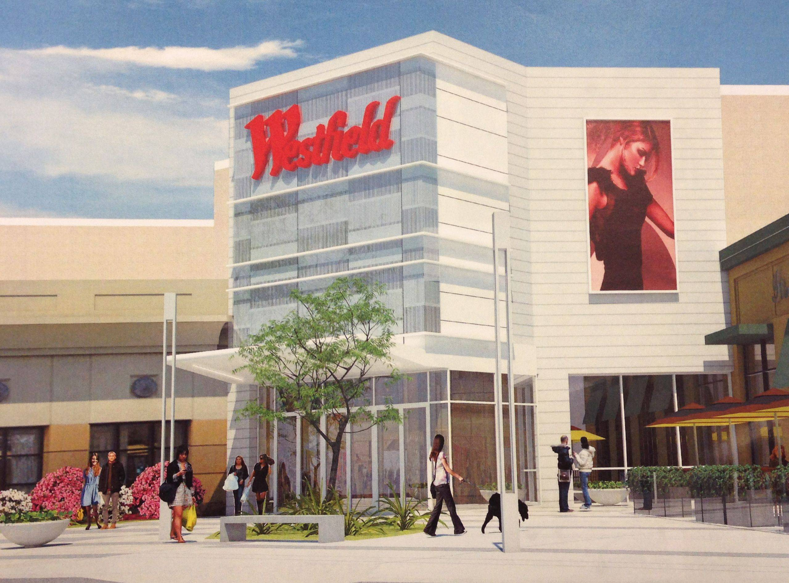 Entry improvements at Westfield Hawthorn mall in Vernon Hills are part of a proposed $50 million expansion/renovation.