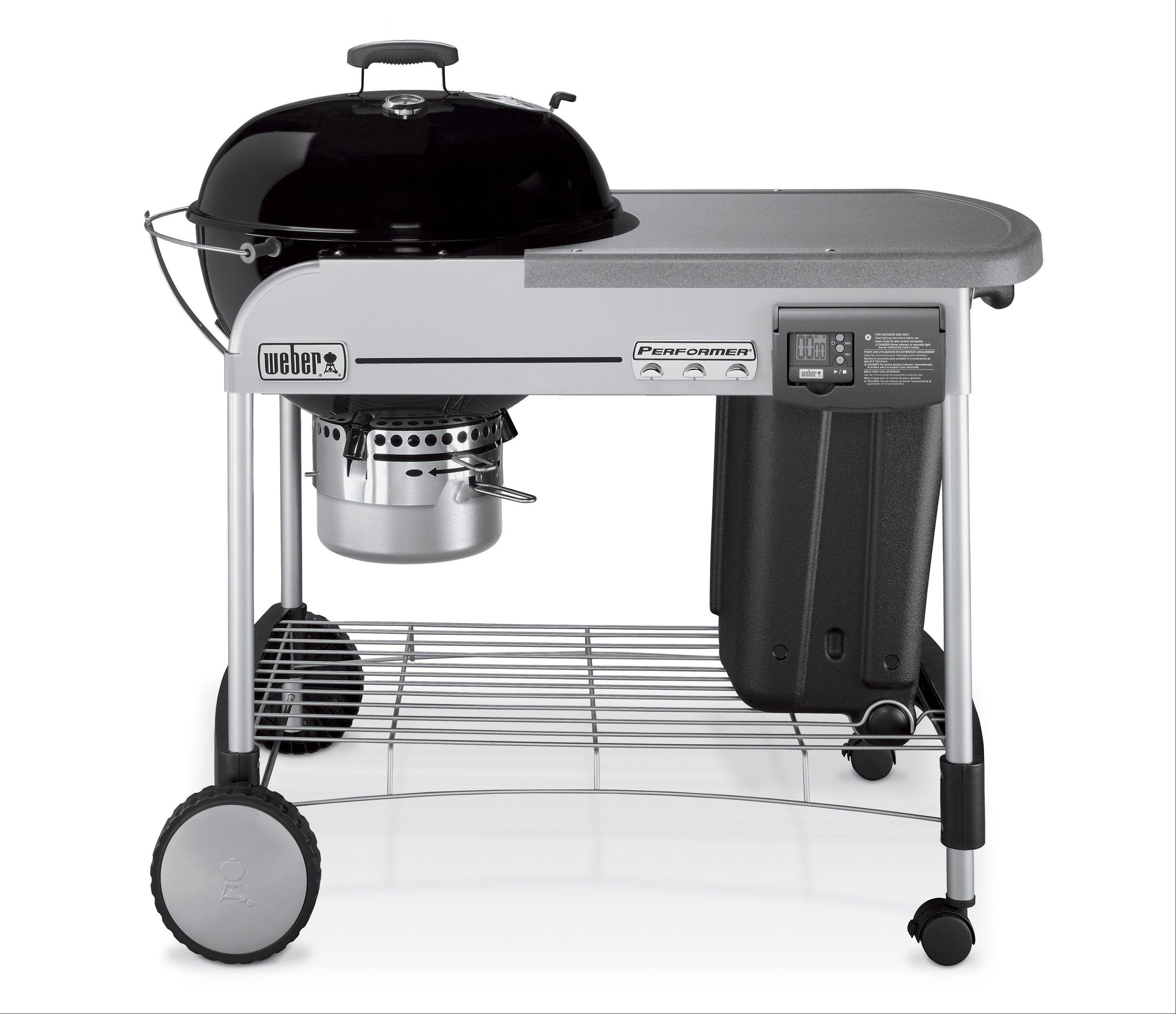 After judging seven grills on nine features, product testers with Cook's Illustrated magazine gave Weber's Performer Platinum Charcoal Grill its highest rating.