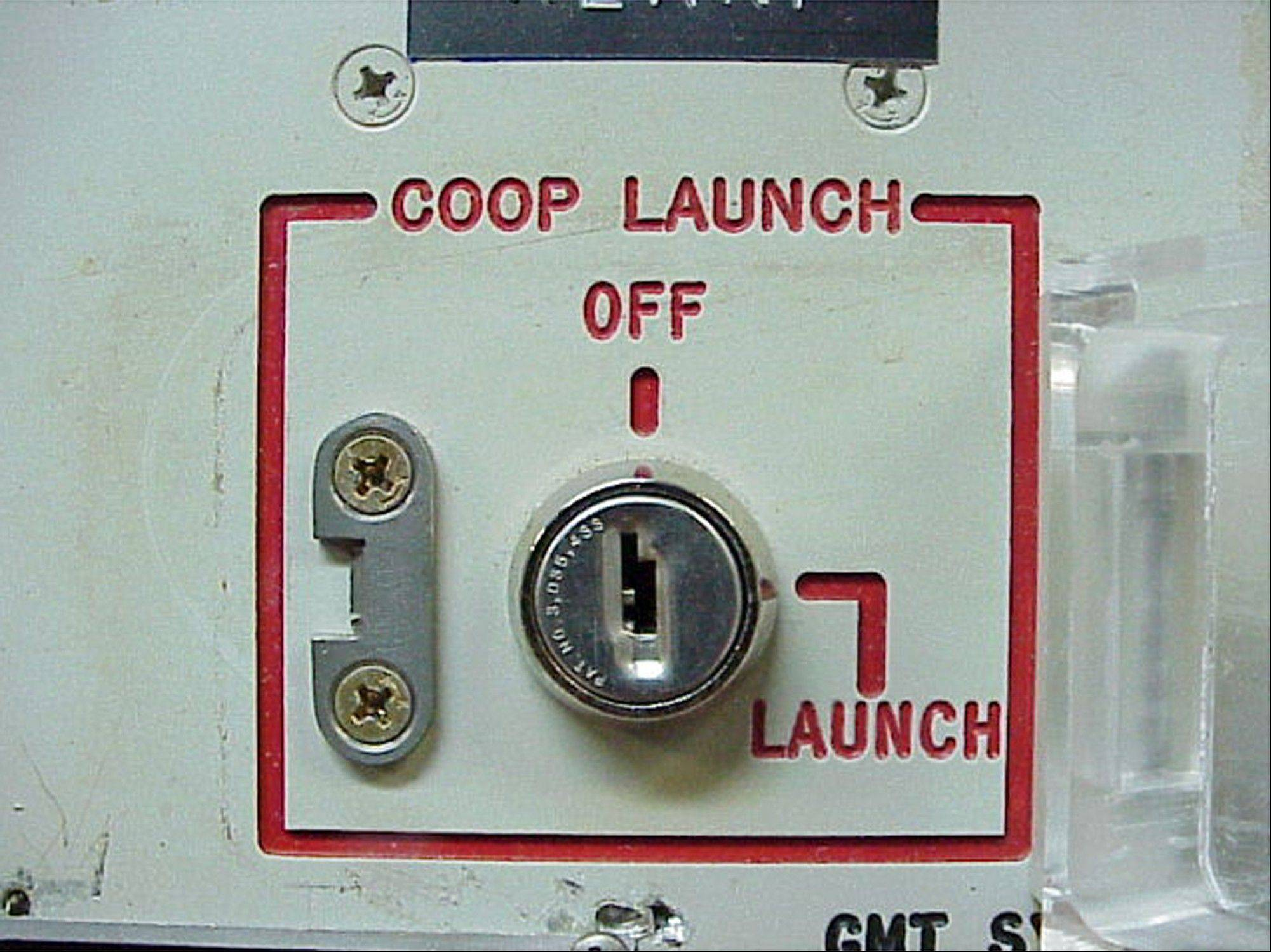 The launch key mechanism at the deactivated Delta Nine Launch Facility near Wall, S.D. The Air Force stripped an unprecedented 17 officers of their authority to control � and if necessary launch � nuclear missiles after a string of unpublicized and unacceptable failings, including a potential compromise of missile launch codes.