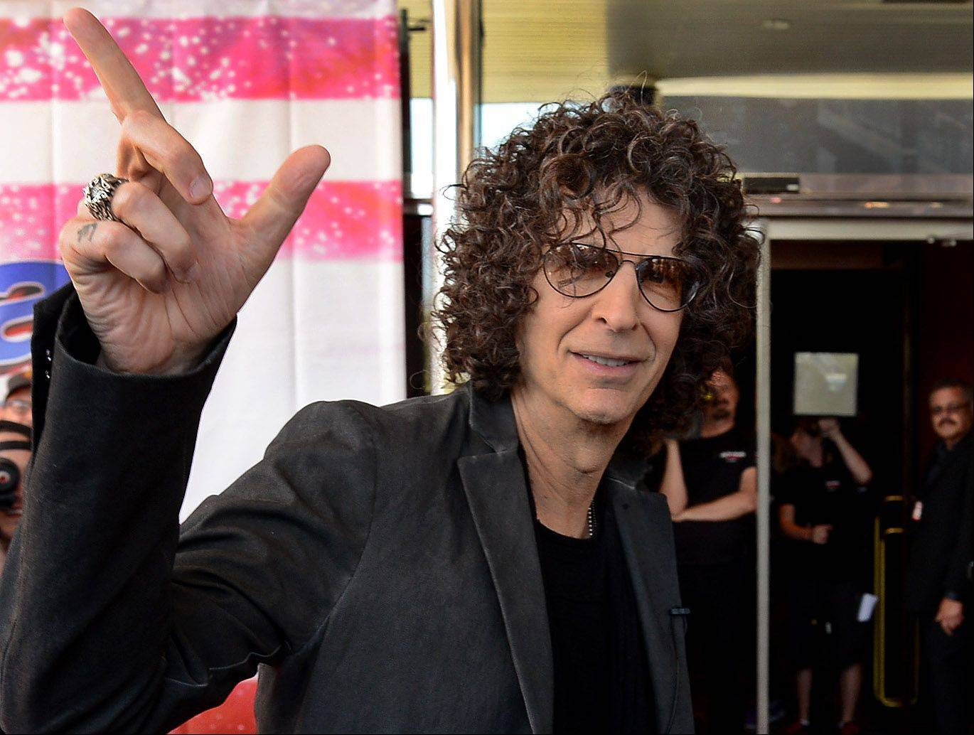"Howard Stern arrives Wednesday at the ""America's Got Talent"" auditions at the Rosemont Theatre. The radio personality and his three fellow hosts are in town through Friday for tapings of the hit NBC competition show."