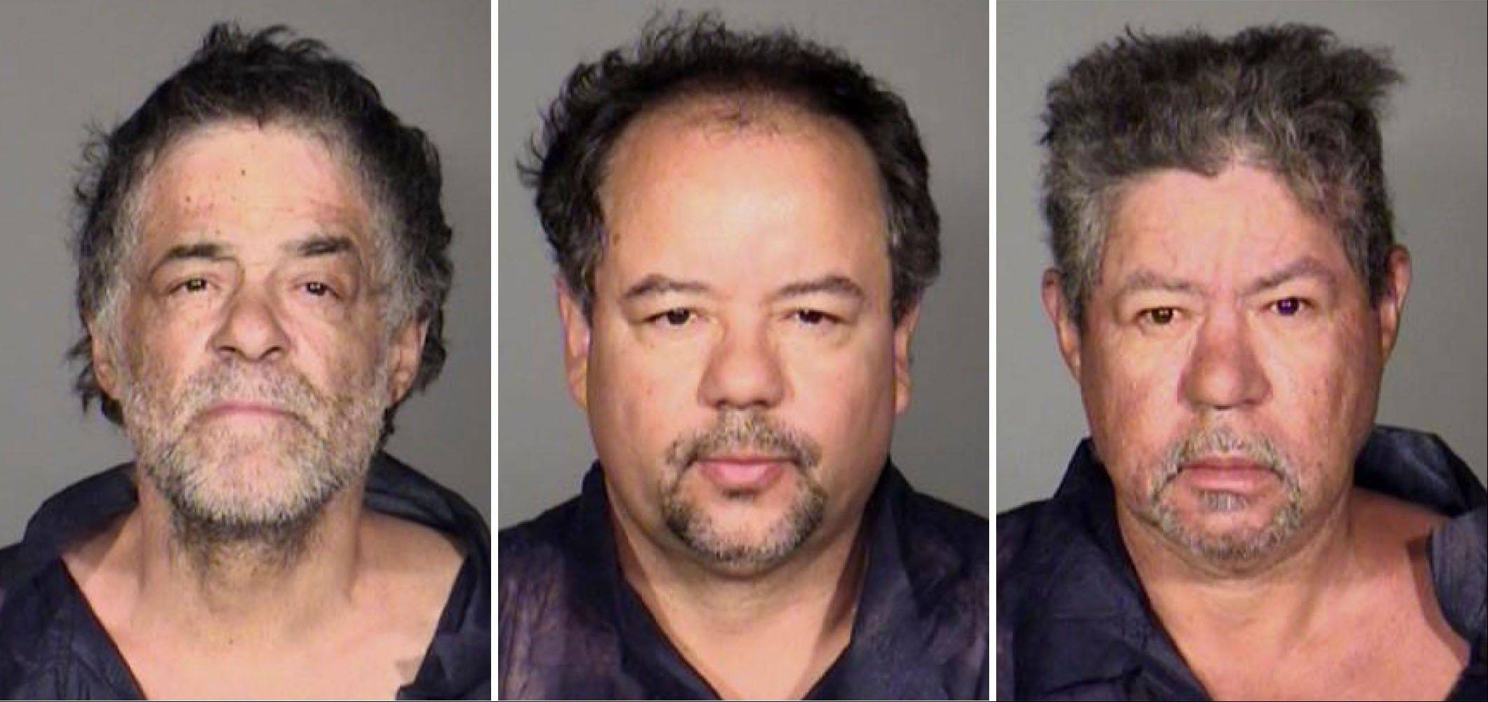 From left, Onil Castro, Ariel Castro, and Pedro Casto. The three brothers were arrested Tuesday, May 7, 2013, after three women who disappeared in Cleveland a decade ago were found safe Monday. The brothers are accused of holding the victims against their will.