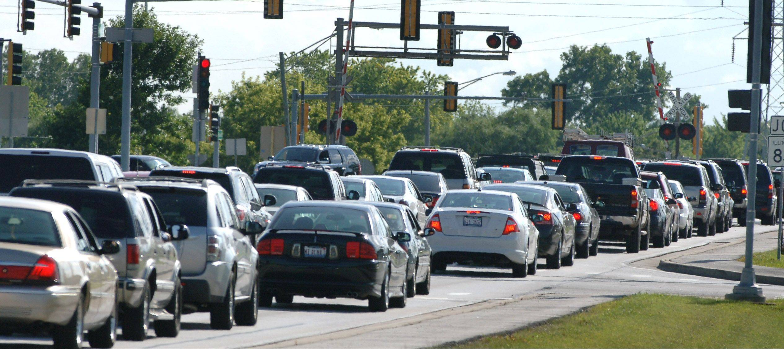 Traffic heads west on Rollins Road toward Route 83 in Round Lake Beach. Plans are in the works for big changes at and around the intersection.