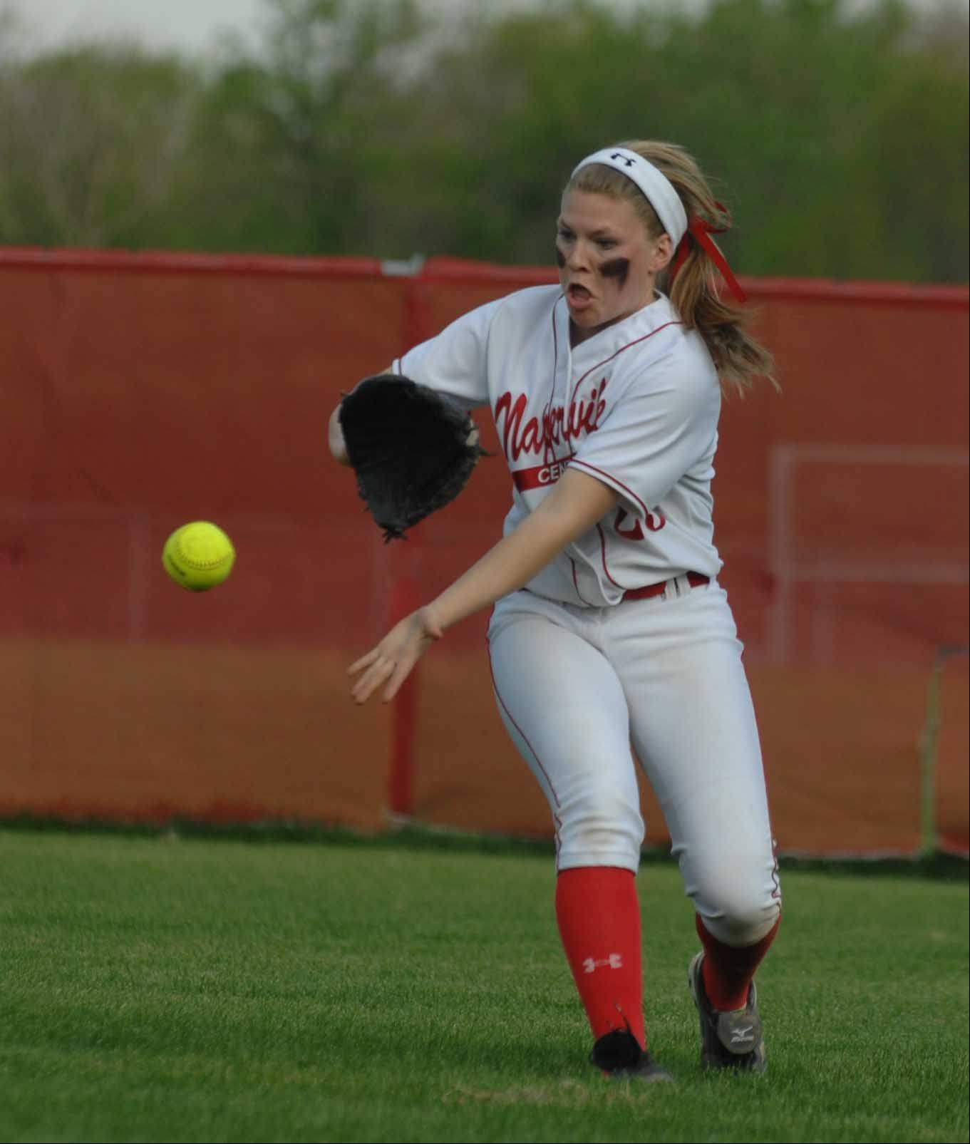Naperville Central's Maddi Doane took part in Wednesday's game against Glenbard North in Naperville.