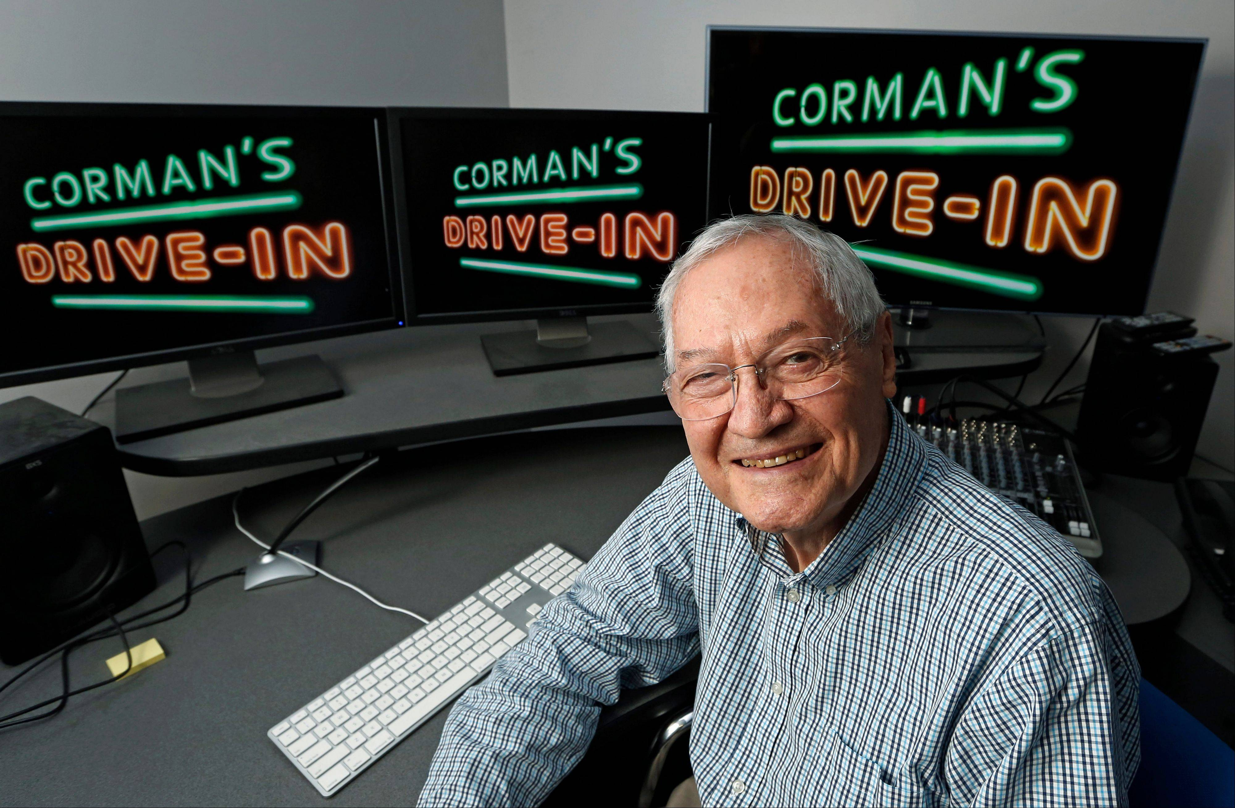 Roger Corman works Wednesday in his Los Angeles office.