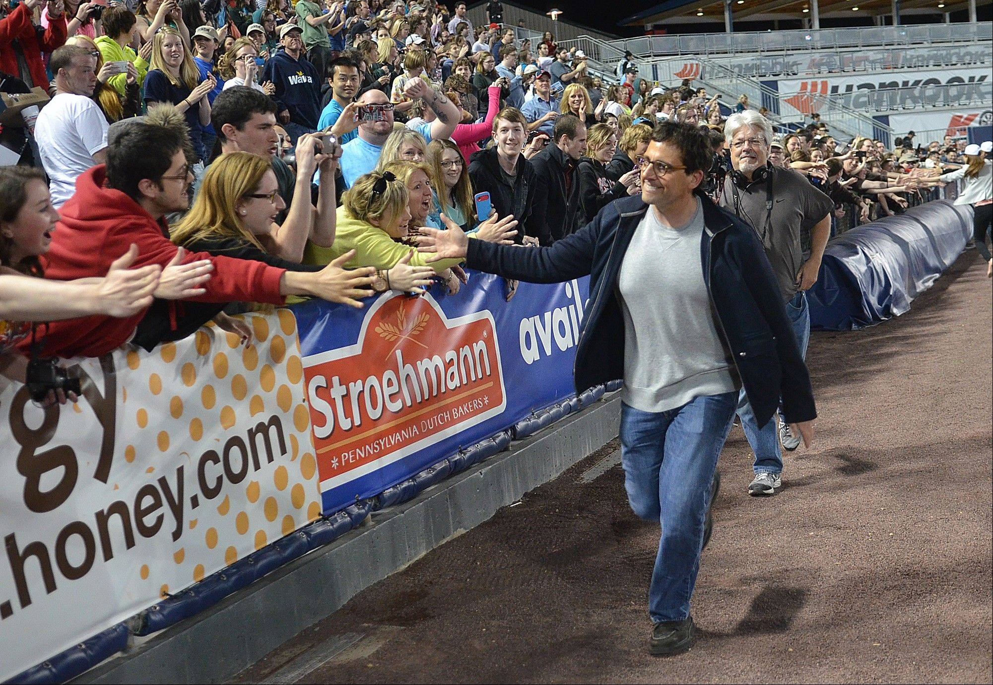 "Steve Carell makes a surprise appearance at ""The Office"" Wrap Party at PNC Field in Scranton, Pa."