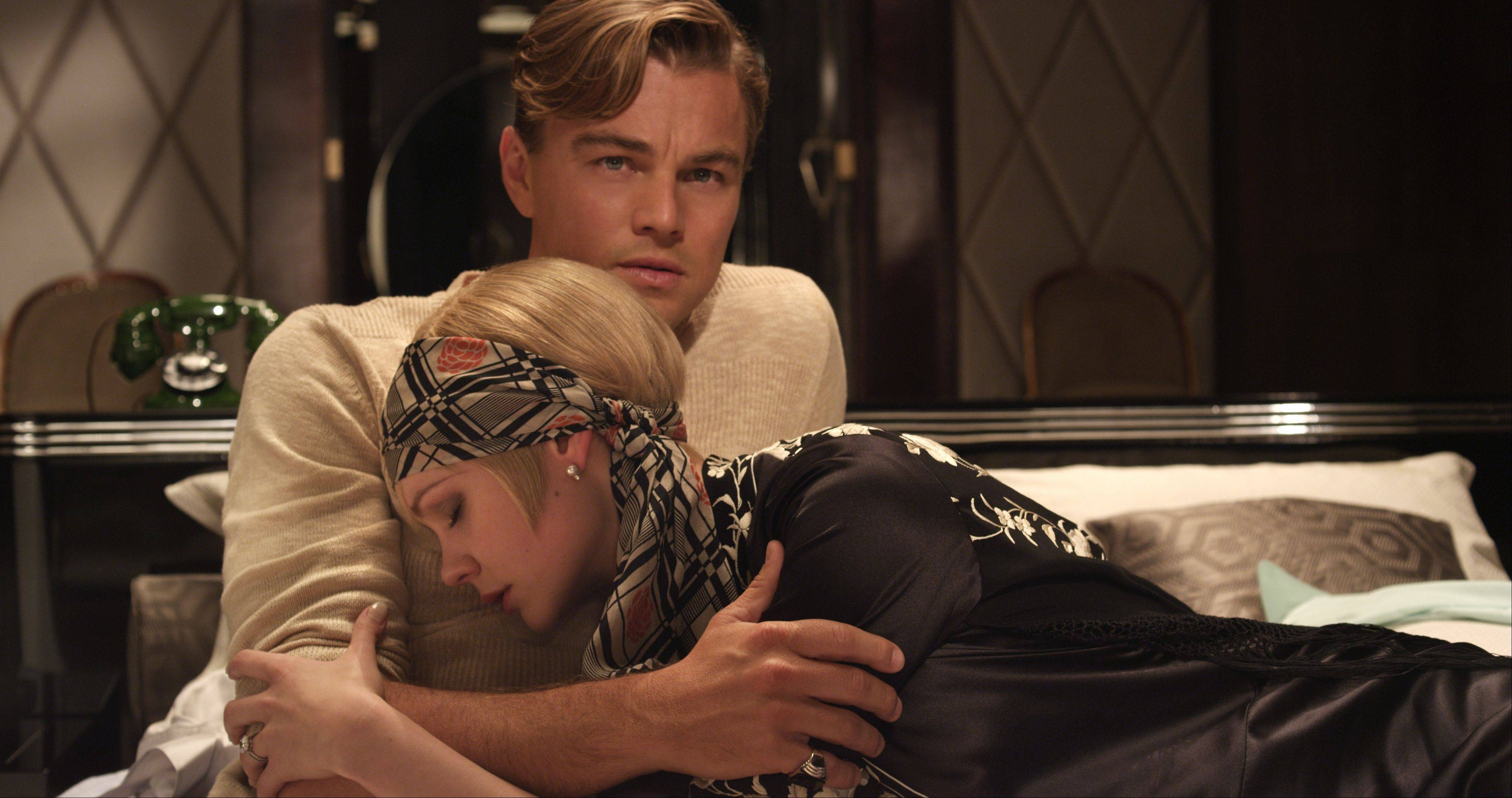 "Gatsby (Leonardo DiCaprio) romances the married Daisy (Carey Mulligan) in Baz Luhrmann's eye-popping adaptation of F. Scott Fitzgerald's ""The Great Gatsby."""