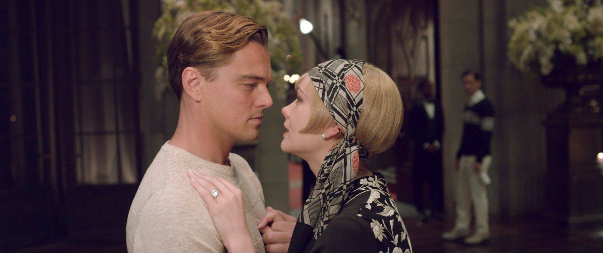"Jay Gatsby (Leonardo DiCaprio) romances the married Daisy (Carey Mulligan) in Baz Luhrmann's eye-popping adaptation of F. Scott Fitzgerald's ""The Great Gatsby."""