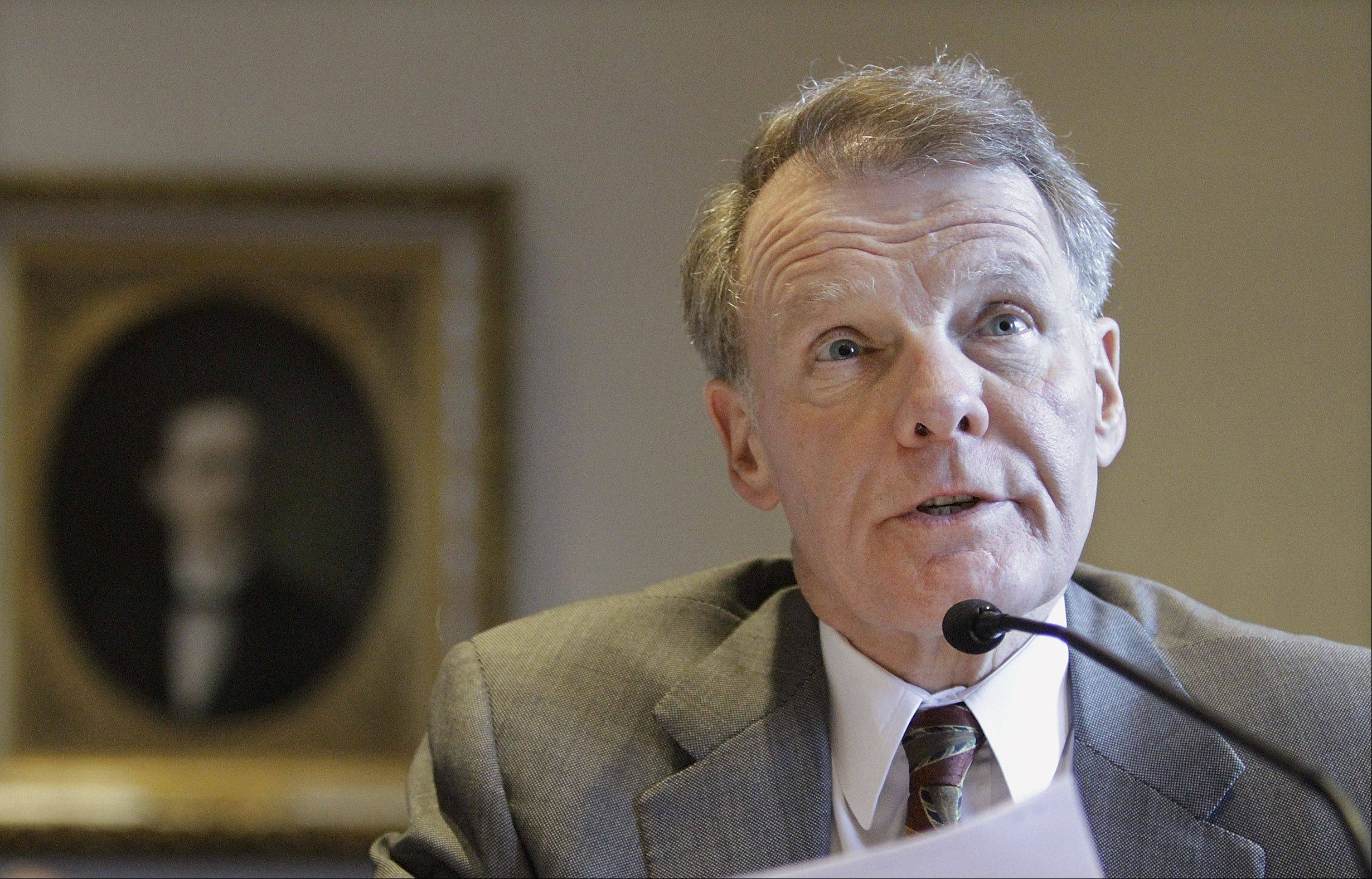 "Illinois House Speaker Michael Madigan said a plan to have suburban schools pay for teachers' pensions is ""going to happen."""