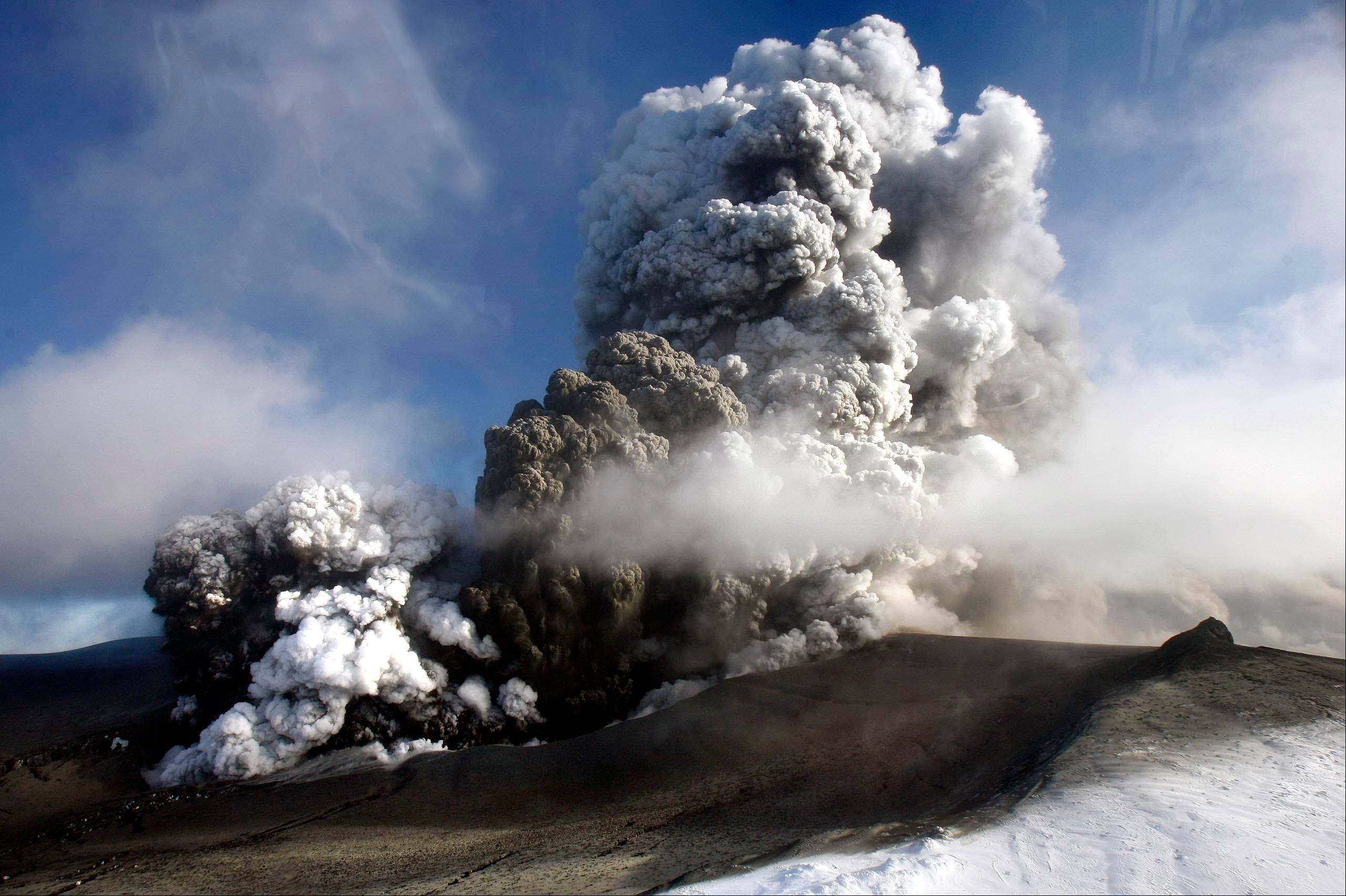 Associated Press/2010The volcano in southern Iceland's Eyjafjallajokull glacier sends ash into the air. T