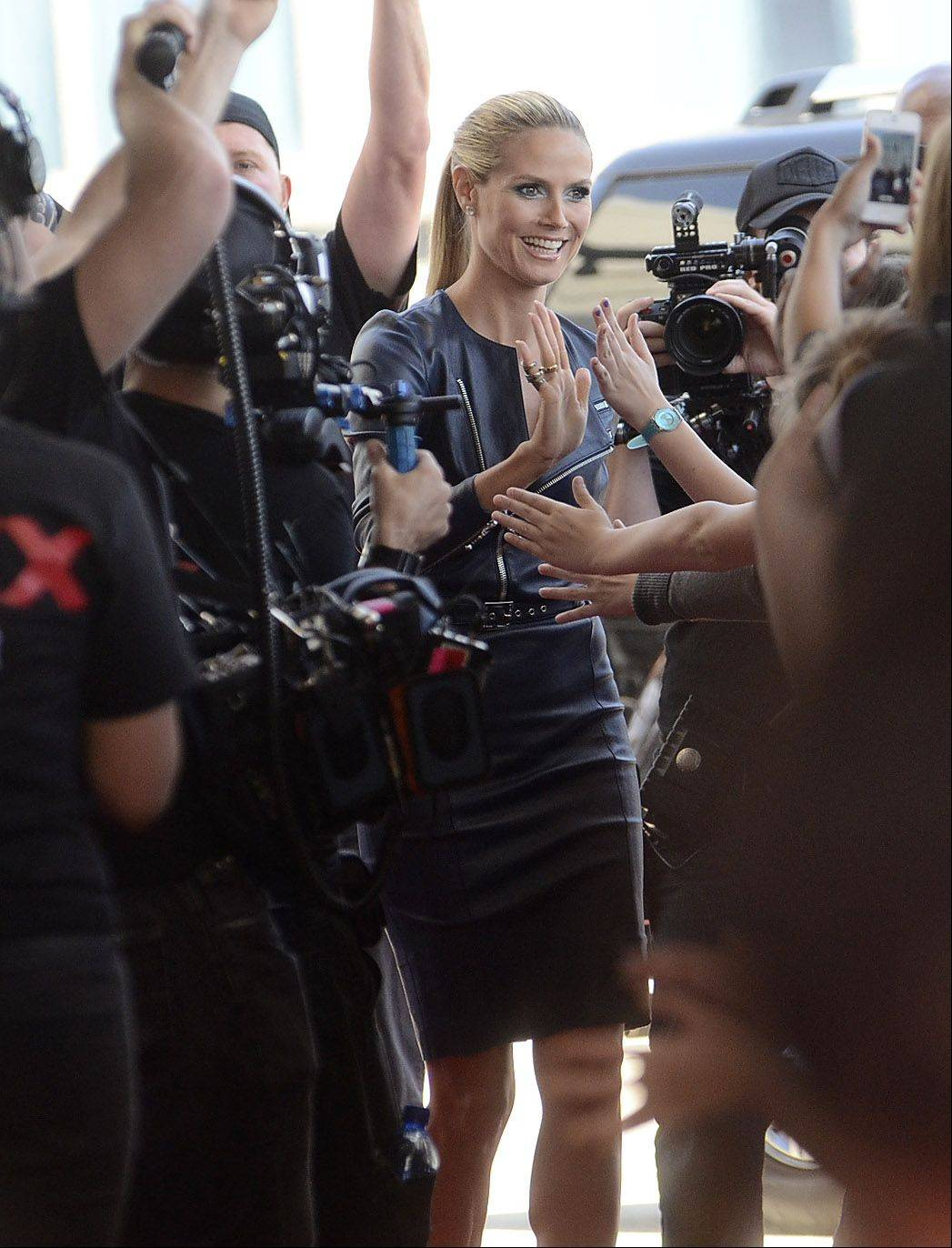 "Heidi Klum arrives at the ""America's Got Talent"" auditions Wednesday in Rosemont."