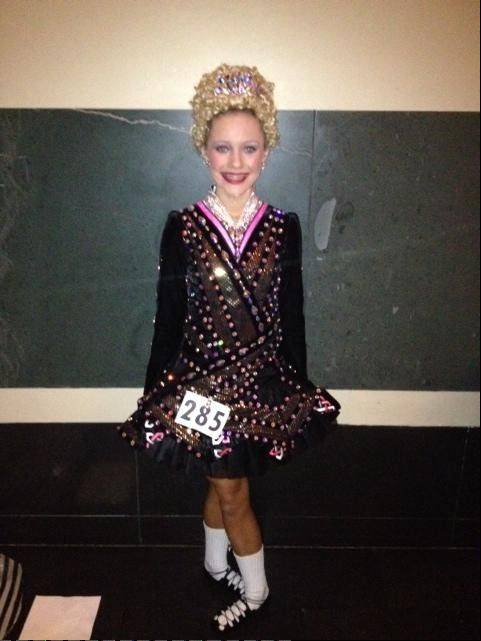 Moira Kramp, the 2012 North American Irish Dance Championships winner in her age group, at the 2012 Worlds competition.