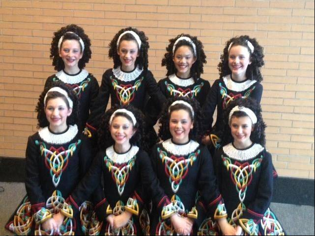 Moira Kramp, top row, right, poses with her 2012 Ceili Oirechtas team.