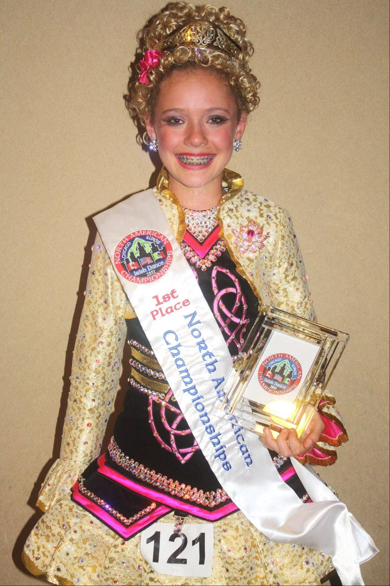 Moira Kramp is the 2012 North American Irish Dance Championships winner in her age group.