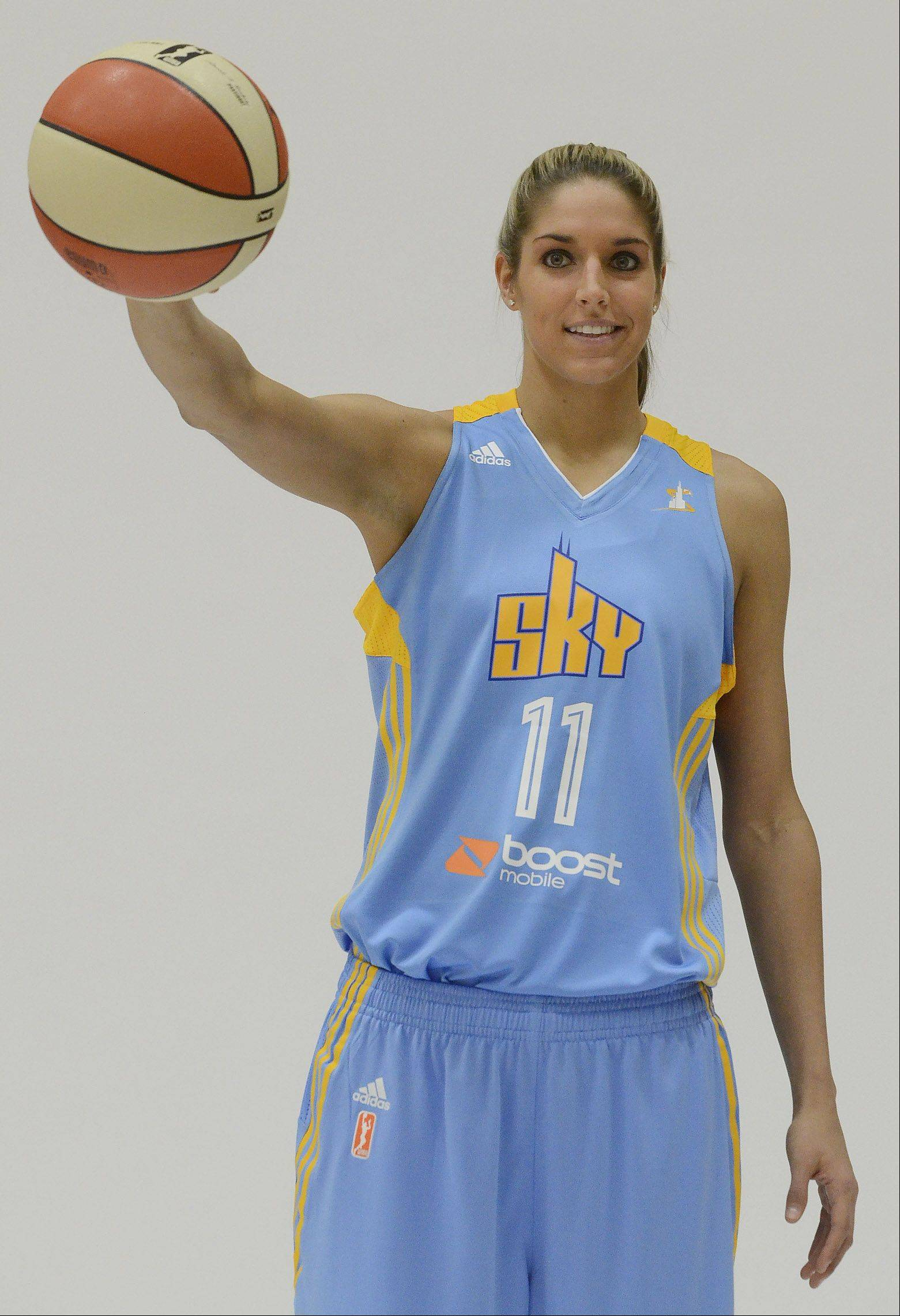 The Sky's top draft pick, 6-foot-5 swing player Elena Delle Donne, handles pressure as easily as she handles a basketball. The Sky's first exhibition game is May 16.