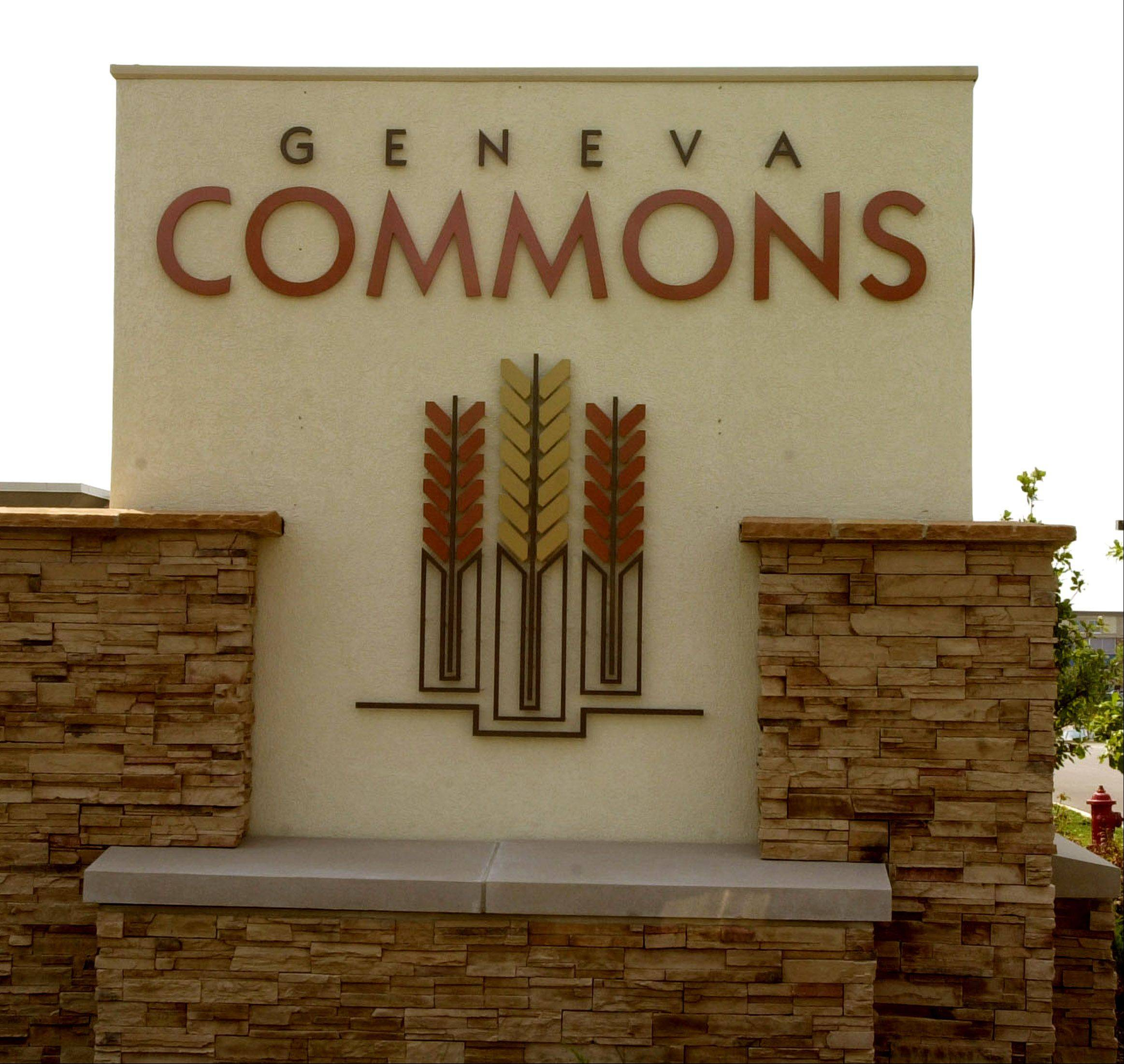 The owners of the Geneva Commons shopping center have defaulted on a $40.4 million loan, Crain�s Chicago Business reported Friday.