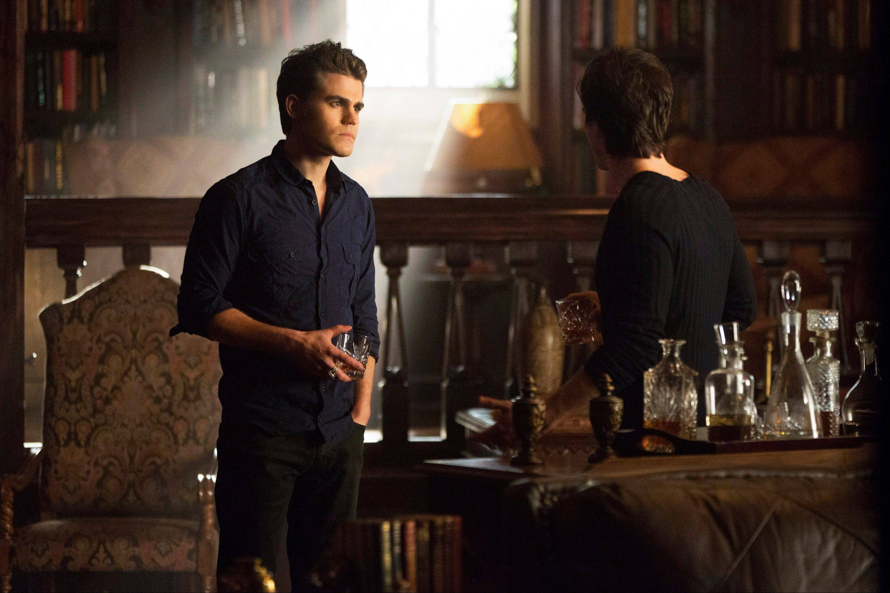 "Paul Wesley, left, as Stefan and Ian Somerhalder as Damon, in a scene from The CW television show, ""The Originals."""