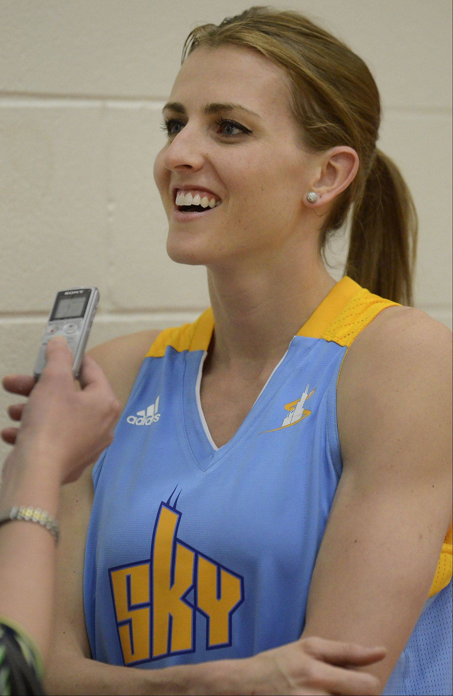 Former DePaul star Allie Quigley, a three-point shooting specialist, is trying to make the Chicago Sky roster.