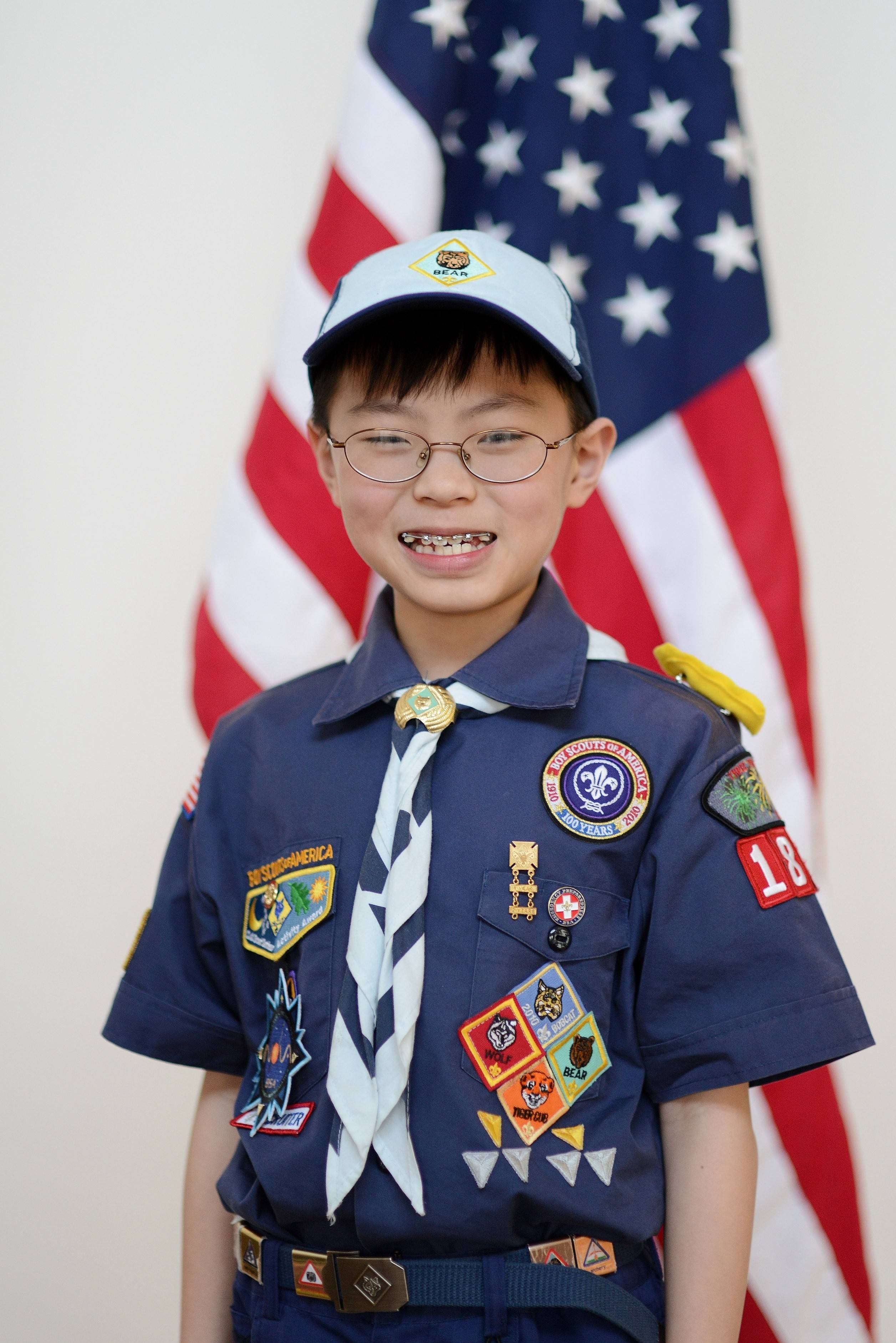 First STEM in Scouting Supernova Award Recipient  Eurgene Lim in Three Fires Council.