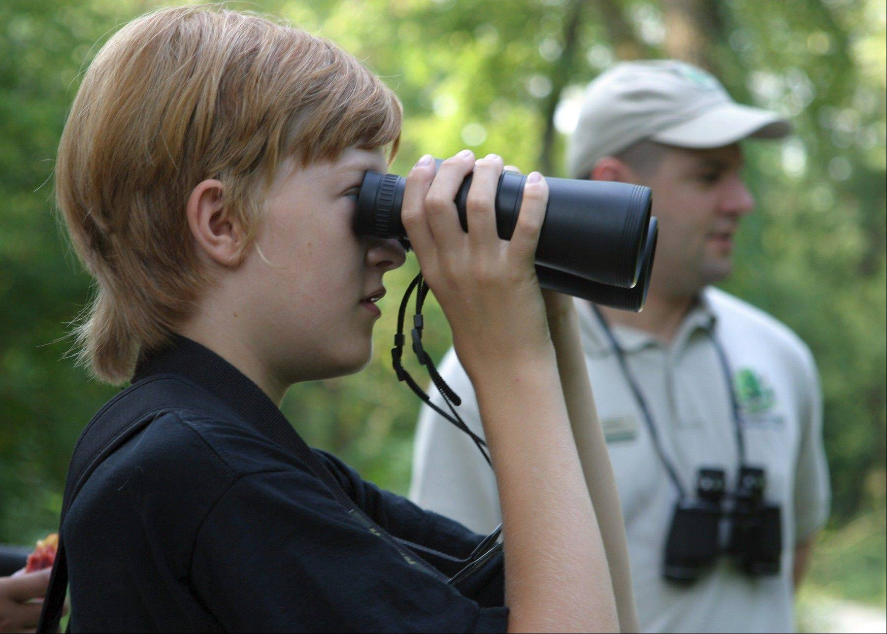 Bird walks are part of the fun at the International Migratory Bird Day Celebration at the Willowbrook Wildlife Center in Glen Ellyn.