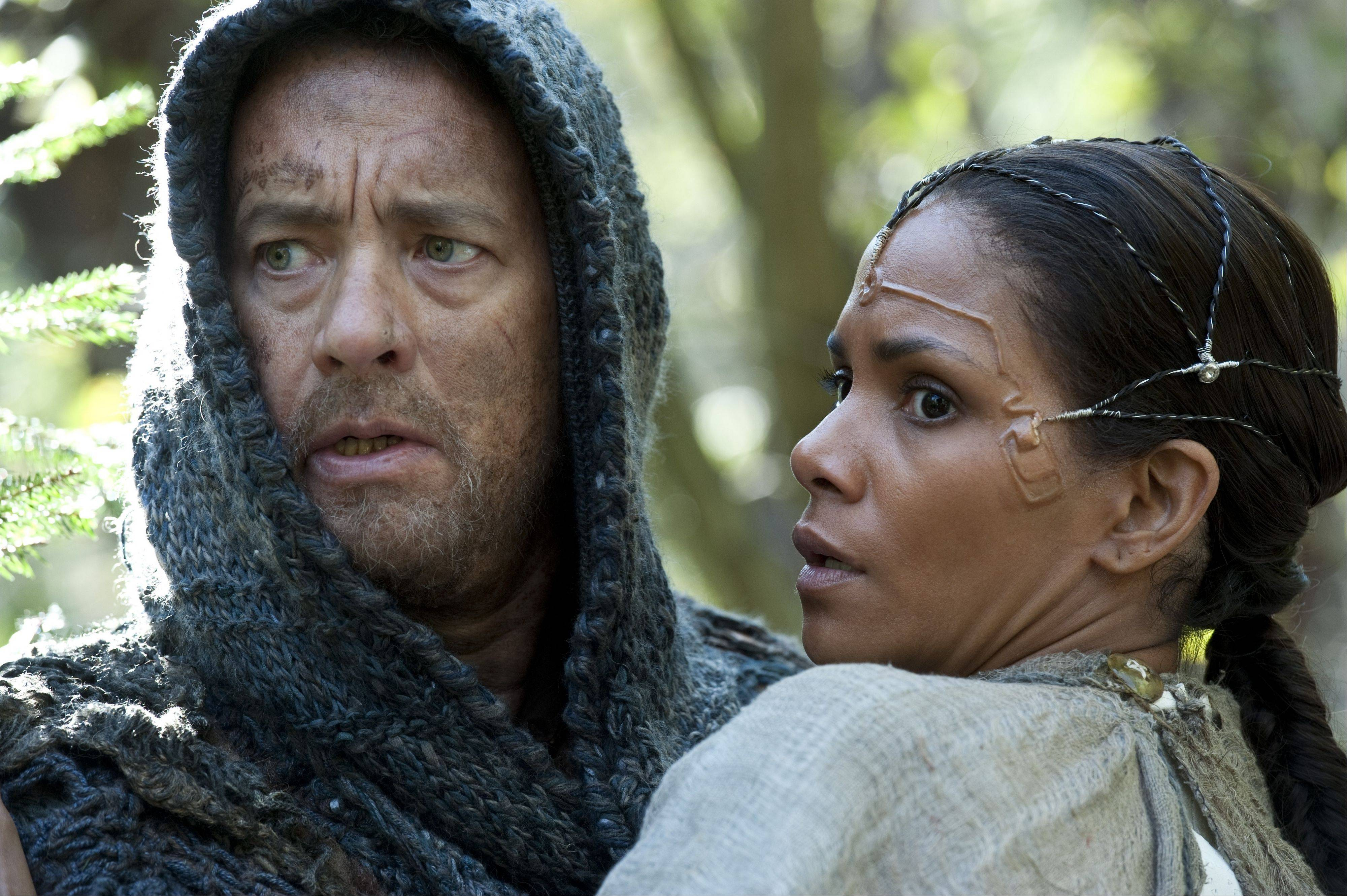 "Tom Hanks and Halle Berry in the time-shifting drama ""Cloud Atlas."""