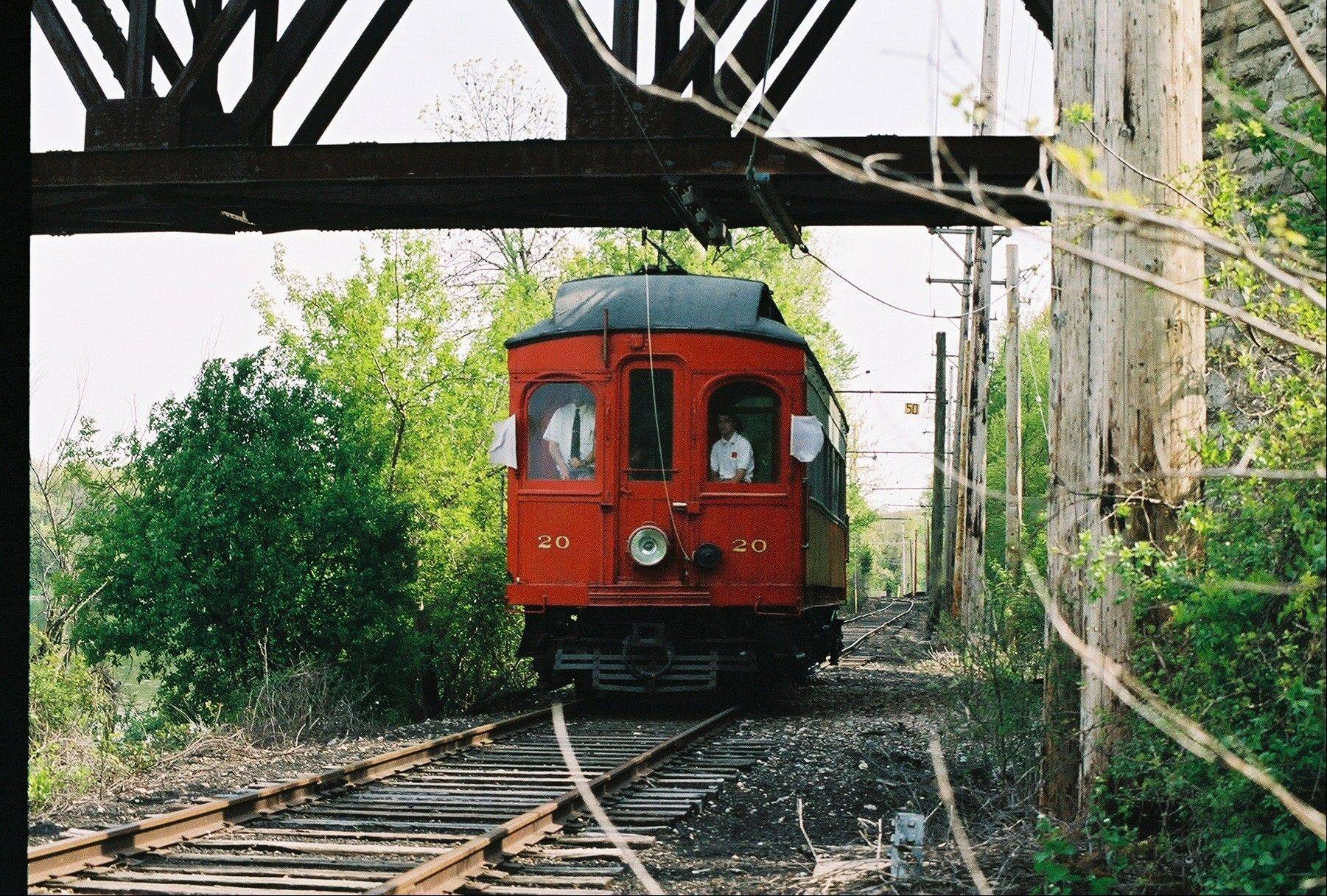 Mothers and grandmothers can hop on a trolley for a free Mother's Day trolley ride at the Fox River Trolley Museum in South Elgin.