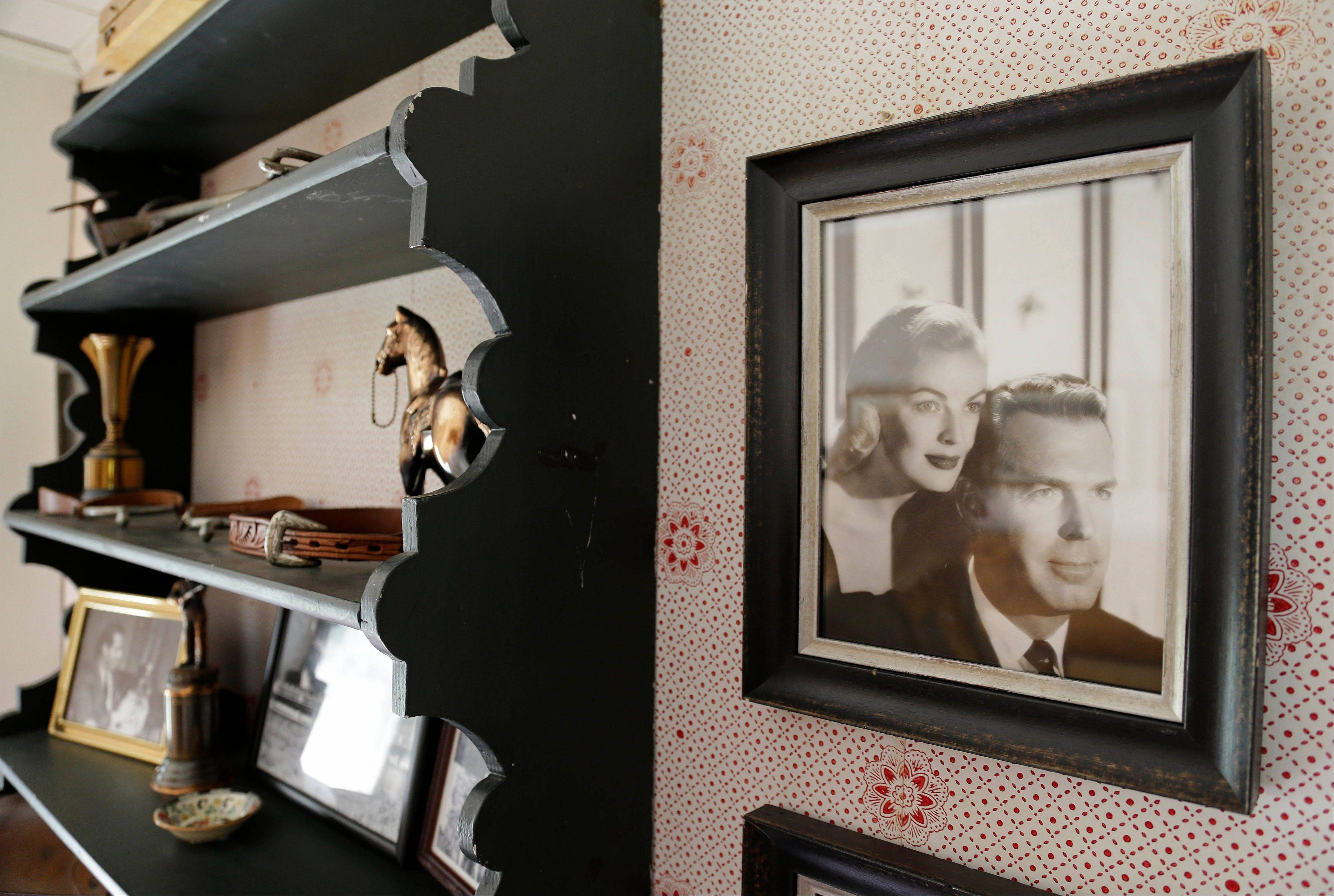 A photograph of actor Fred MacMurray and his actress wife June Haver hangs in an upstairs room of MacMurray's home at the MacMurray Ranch in Healdsburg, Calif.