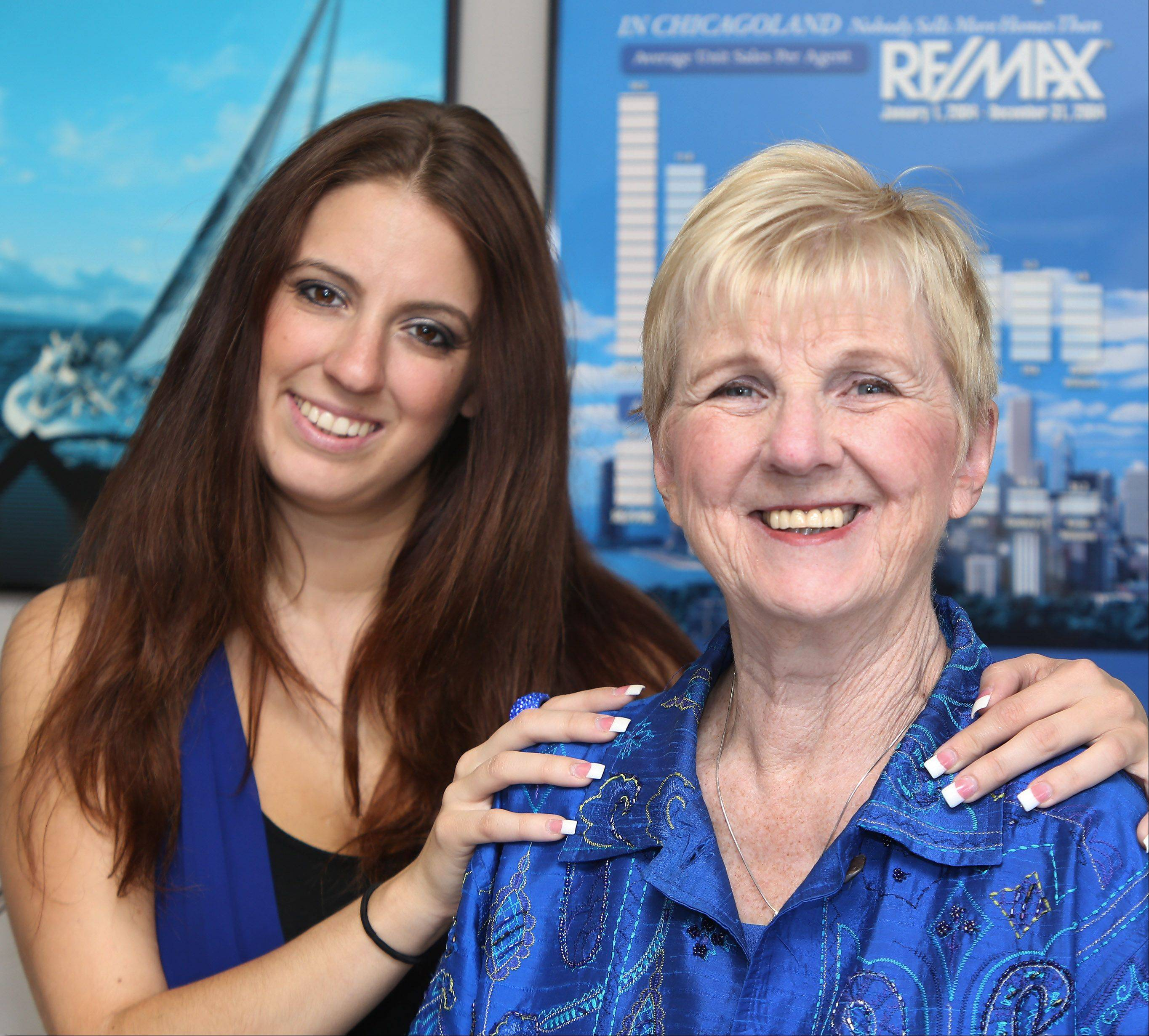 Jennifer Radke, left, followed her mother Donna Radke into the real estate business. They work together at RE/MAX Center in Grayslake.