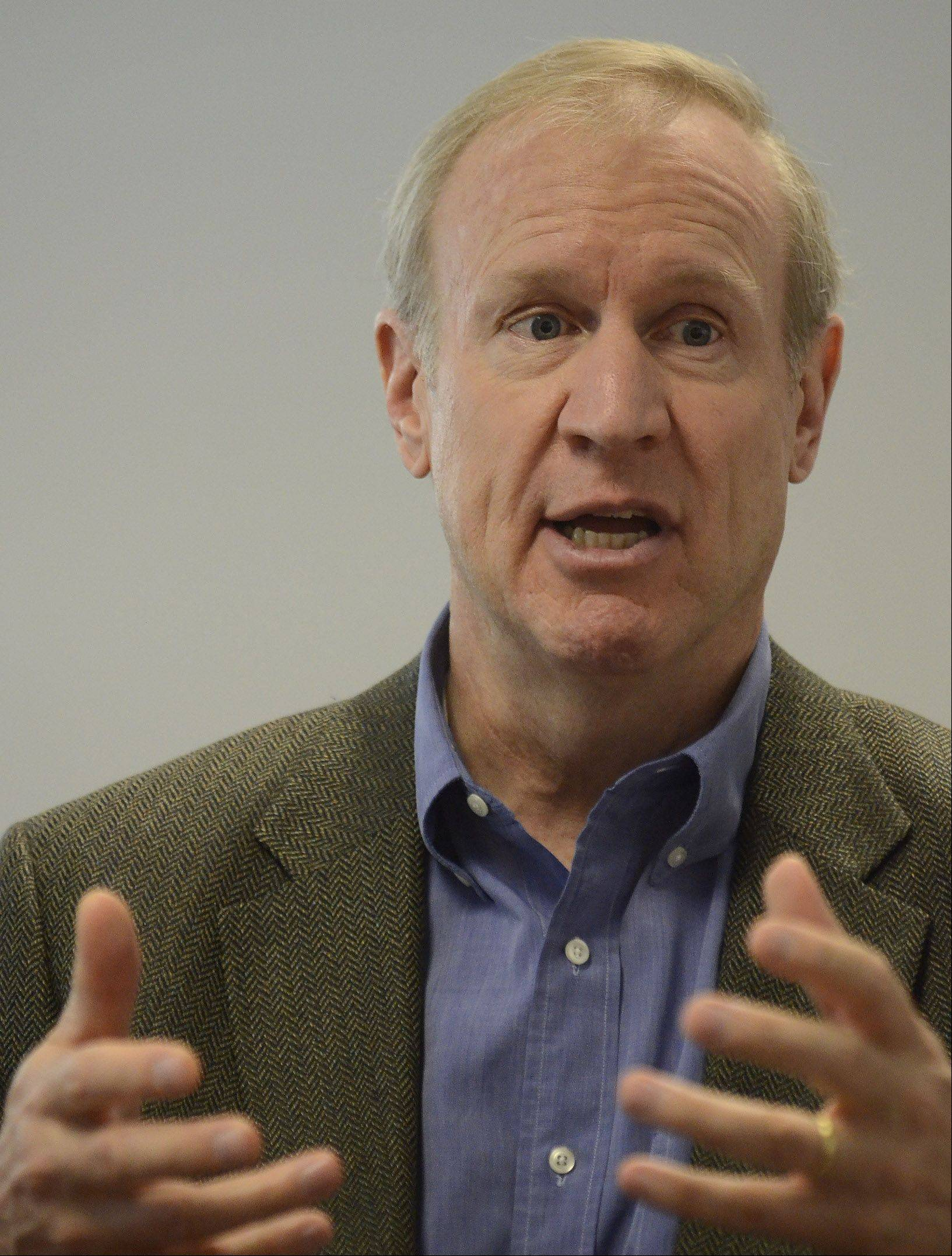 Potential GOP gubernatorial candidate Bruce Rauner sits down with the Daily Herald about exploring a bid.