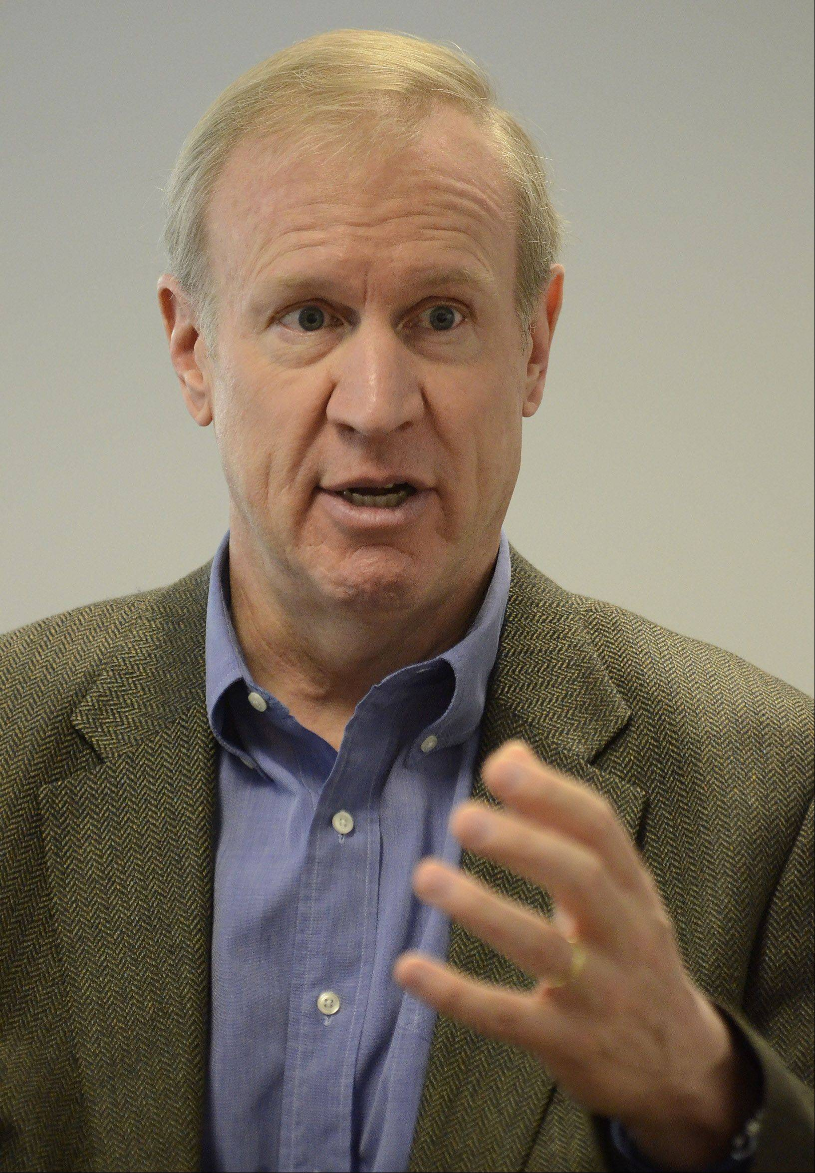 "Potential GOP gubernatorial candidate Bruce Rauner says he has scared the GOP ""establishment."""