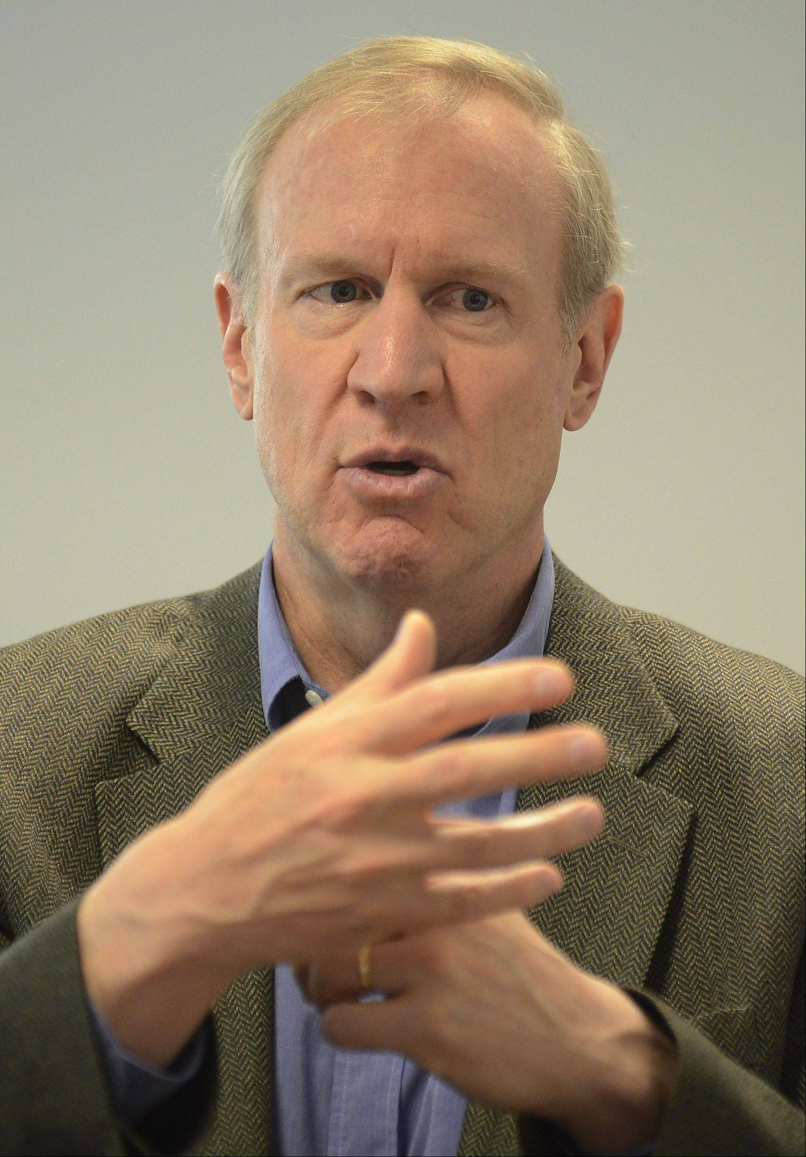 Exploring a run for the GOP gubernatorial nomination, venture capitalist Bruce Rauner won't apologize over rumors that he may have used clout to secure a coveted spot at Walter Payton Prep for his daughter.