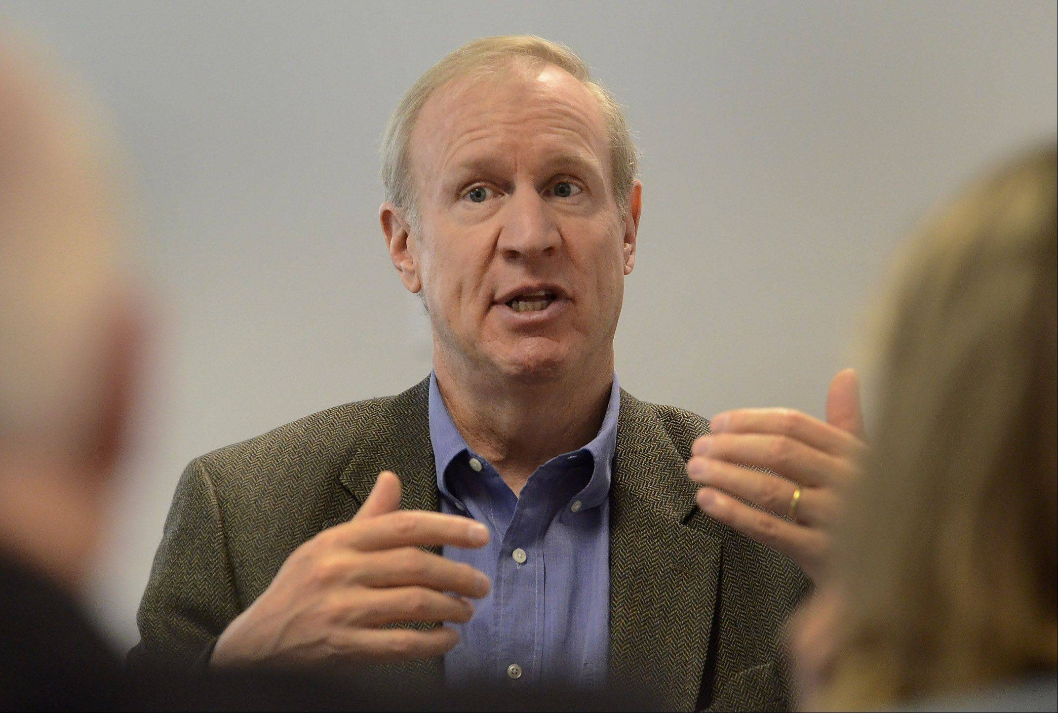 Potential GOP gubernatorial candidate Bruce Rauner says some of his major focuses during an official campaign would be education reform and cleaning up Springfield.