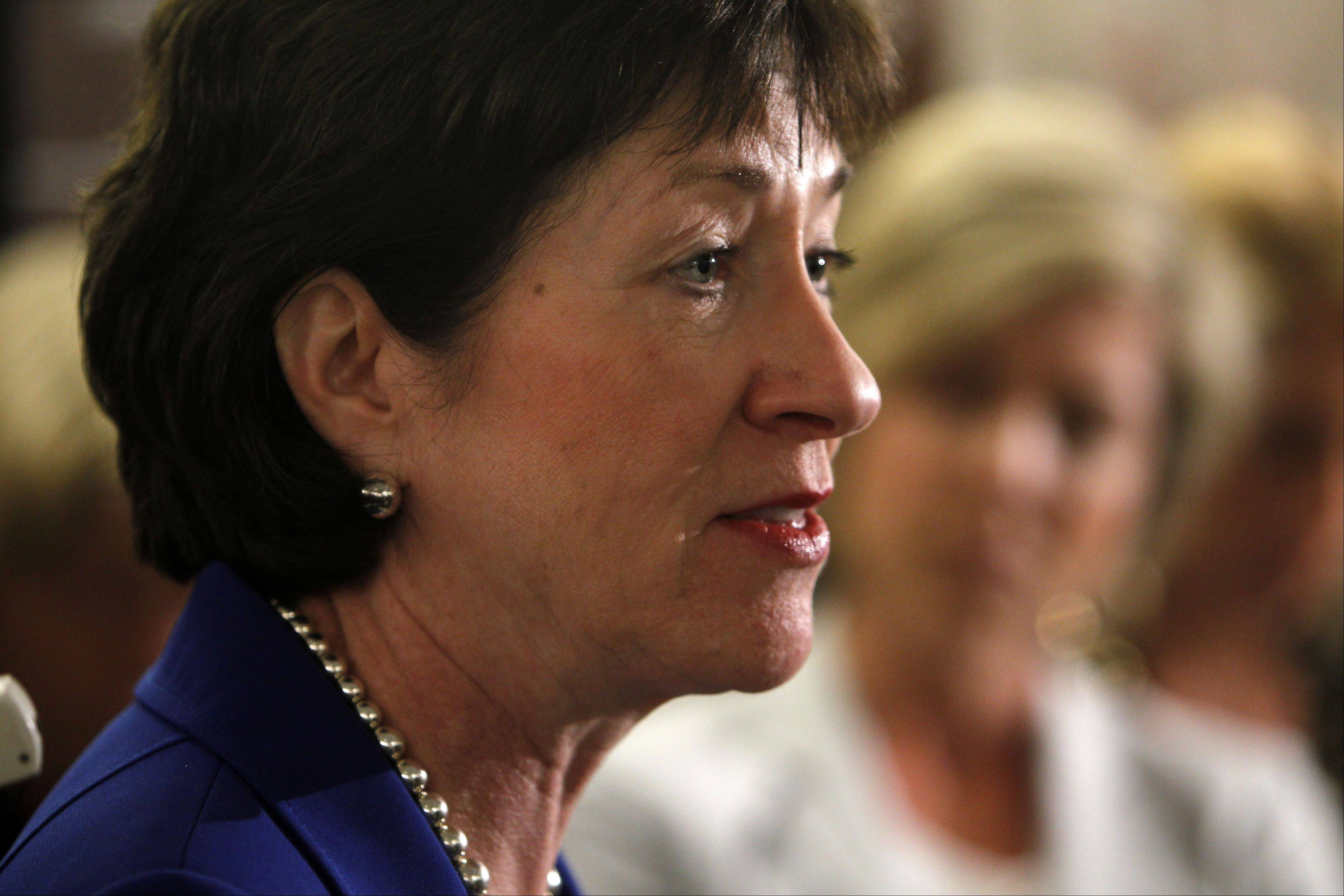 "Sen. Susan Collins, a Maine Republican, expressed skepticism Sunday that revelations that the IRS targeted conservative groups was simply the result of ""a couple of rogue IRS employees,"""