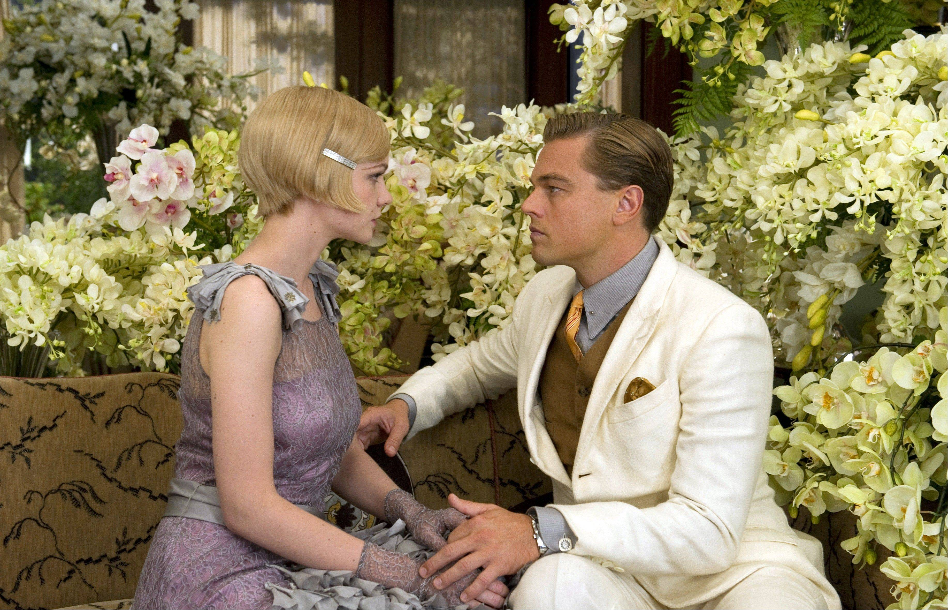 "Carey Mulligan as Daisy Buchanan, left, and Leonardo DiCaprio as Jay Gatsby in ""The Great Gatsby."" The film will be shown at the Cannes Film Festival."