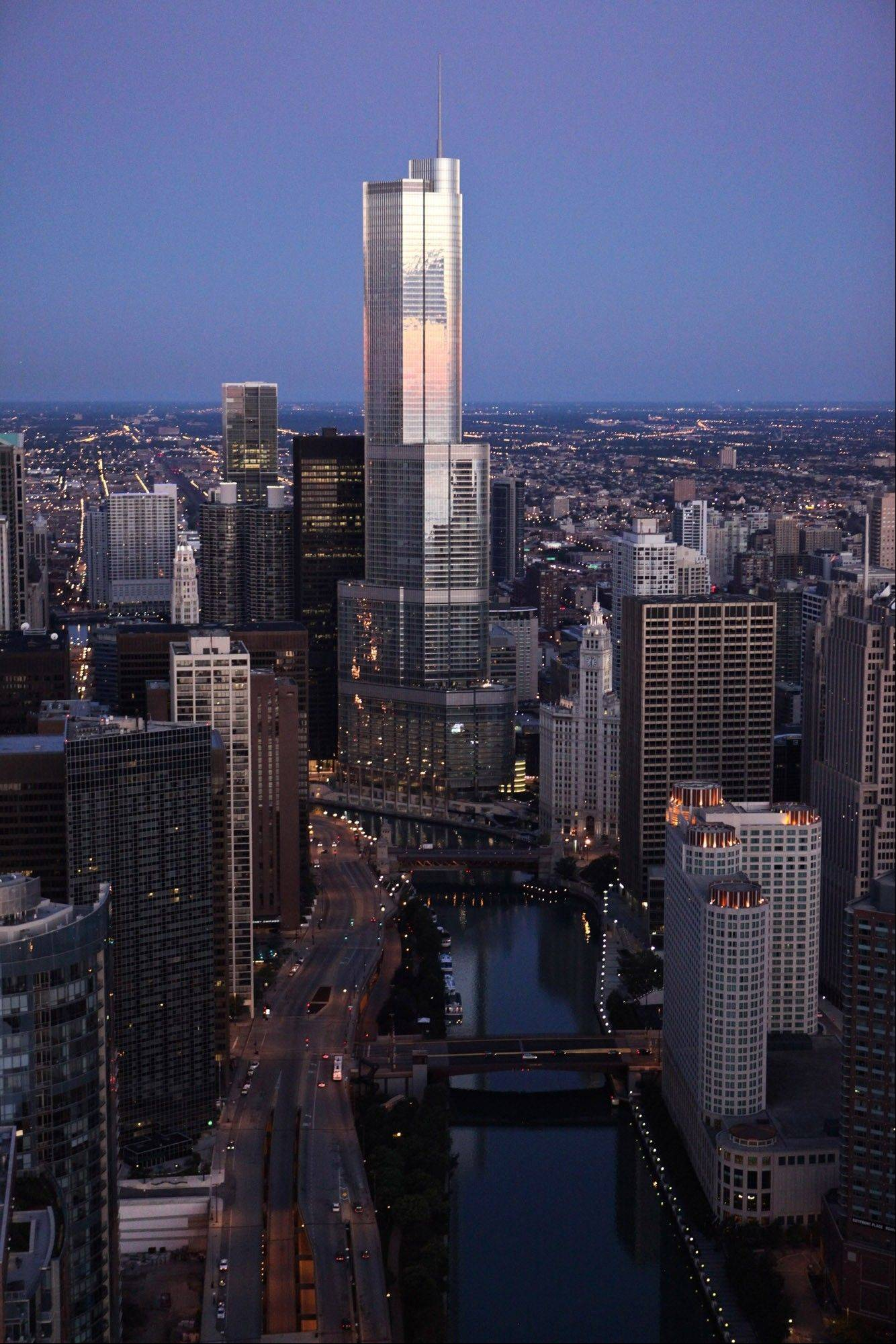 The 92-story Trump International Hotel & Tower in Chicago has 486 condos, according to its website.