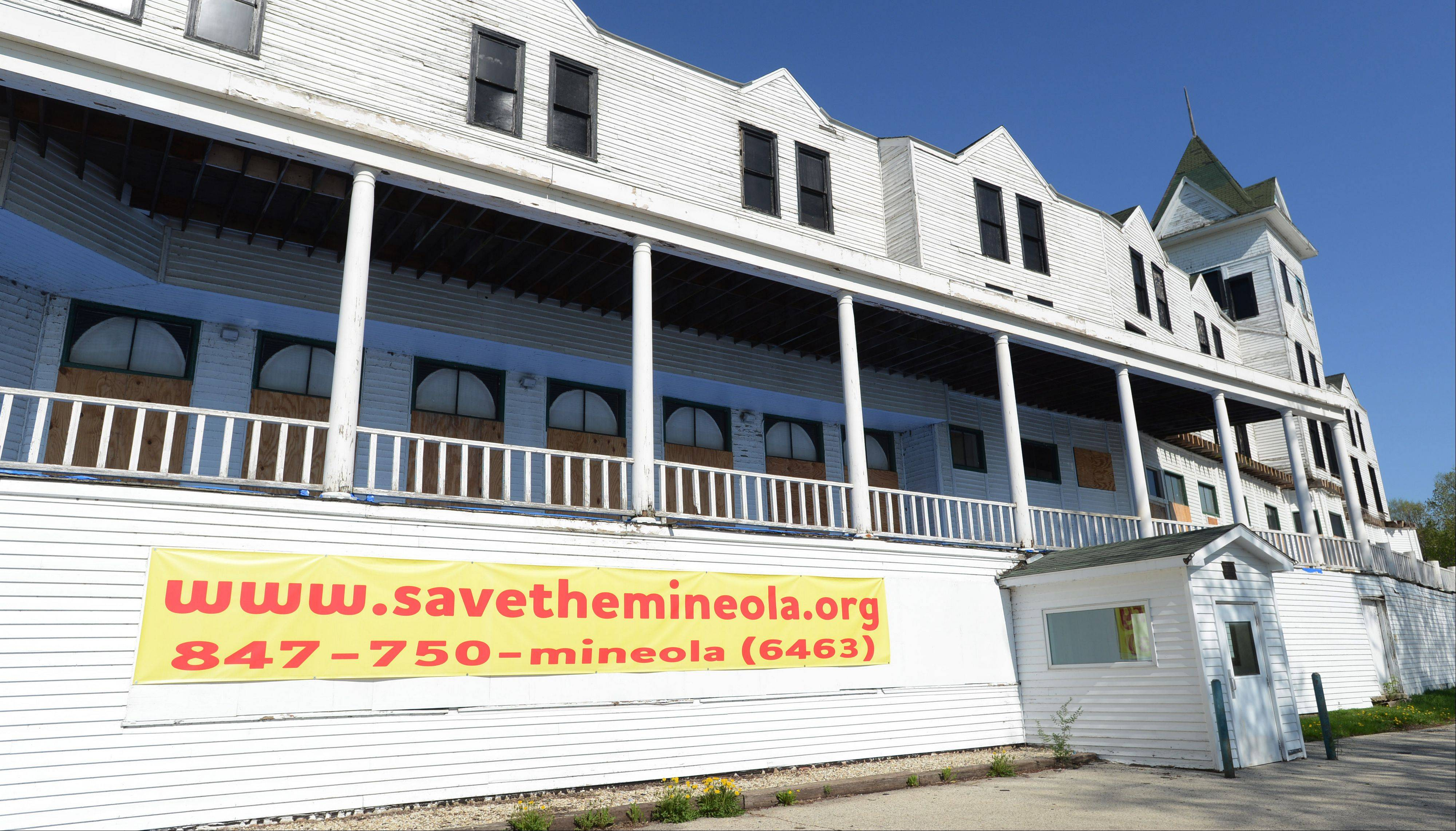 Supporters hope the recent listing of the Mineola Hotel in Fox Lake as an endangered historic place will generate public awareness of the local landmark.