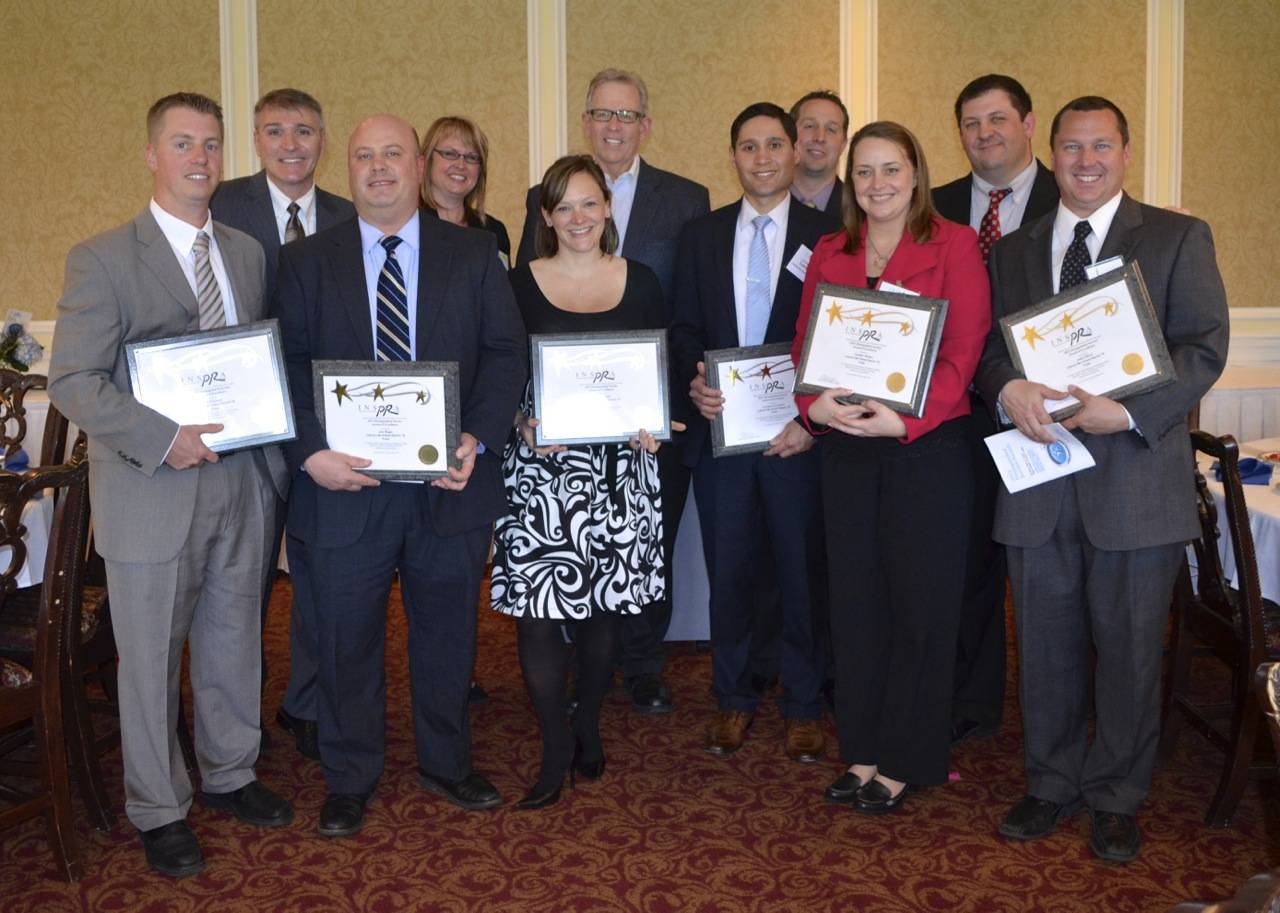 Libertyville Elementary District 70 administrators won two Distinguished Service Awards from the Illinois chapter of the National School Public Relations Association for outreach into the community and for a special Social Media project for the community.