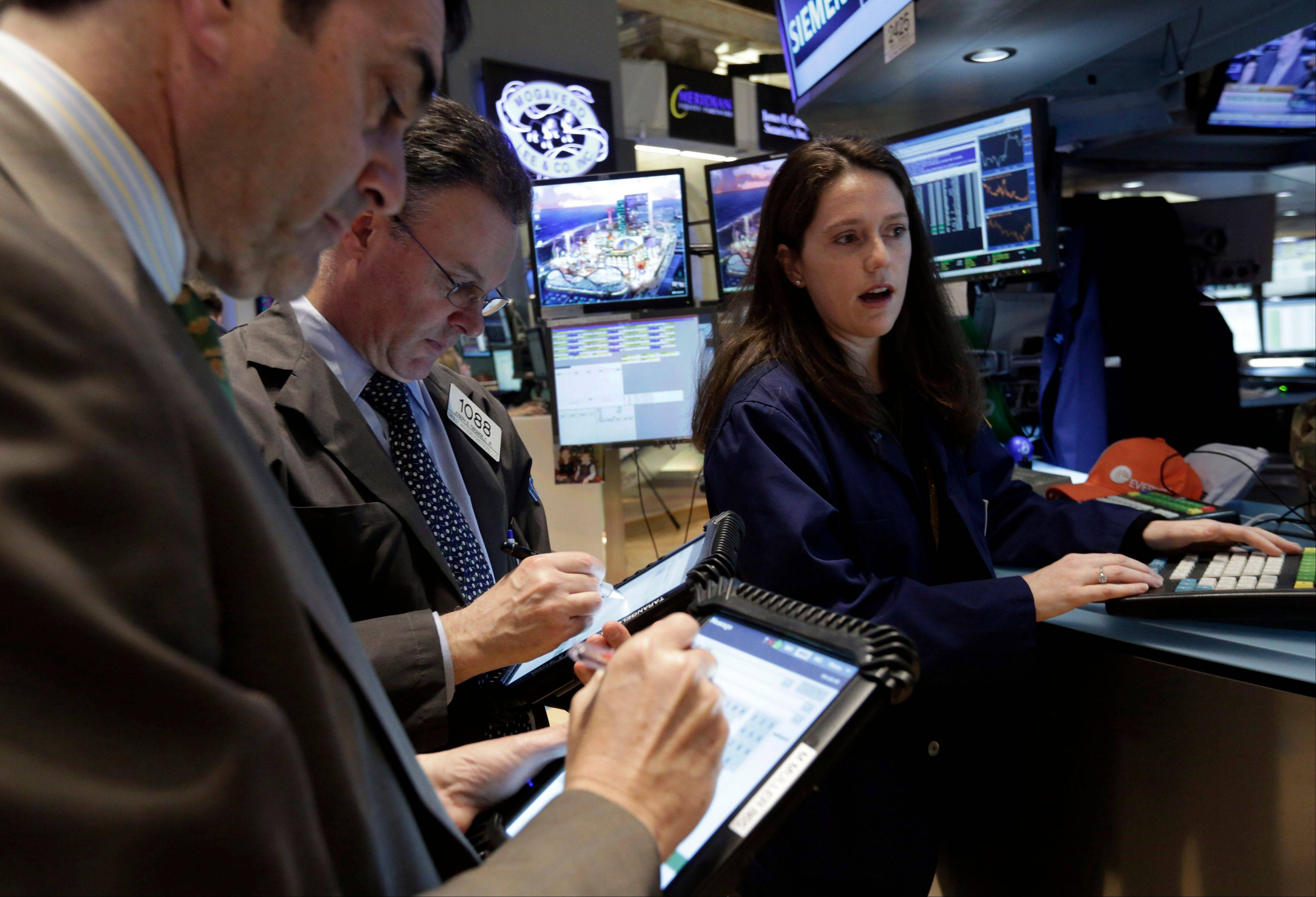 U.S. stocks rose, sending the Standard & Poor�s 500 Index to its eighth record high in the past nine sessions, on increased optimism over growth in the world�s largest economy.