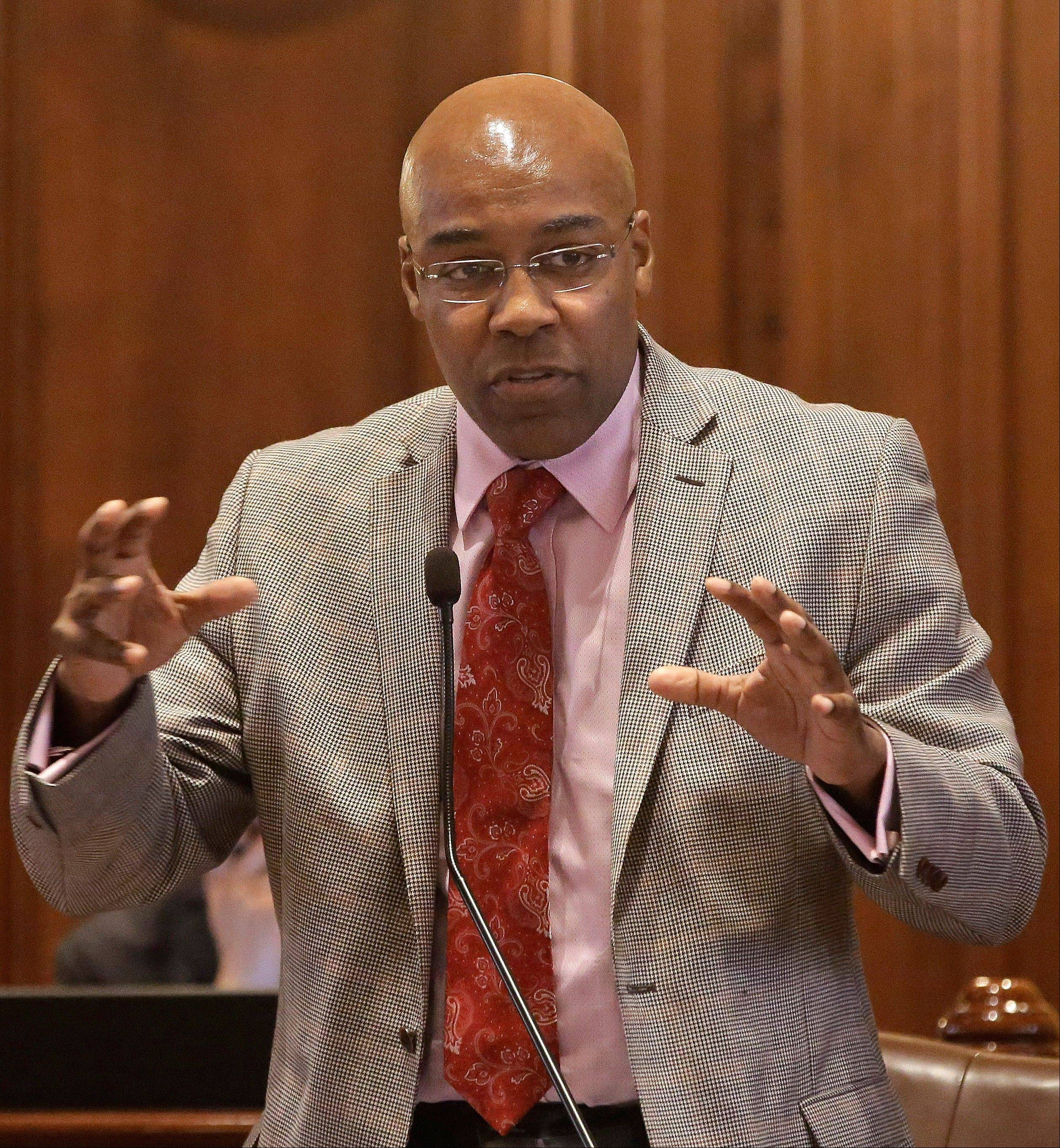 State Sen. Kwame Raoul's concealed carry legislation includes a statewide gun prohibition in schools, liquor stores, stadiums, amusement parks and more. Illinois has until June 9 to follow a federal court order to enact a law allowing concealed guns in public.