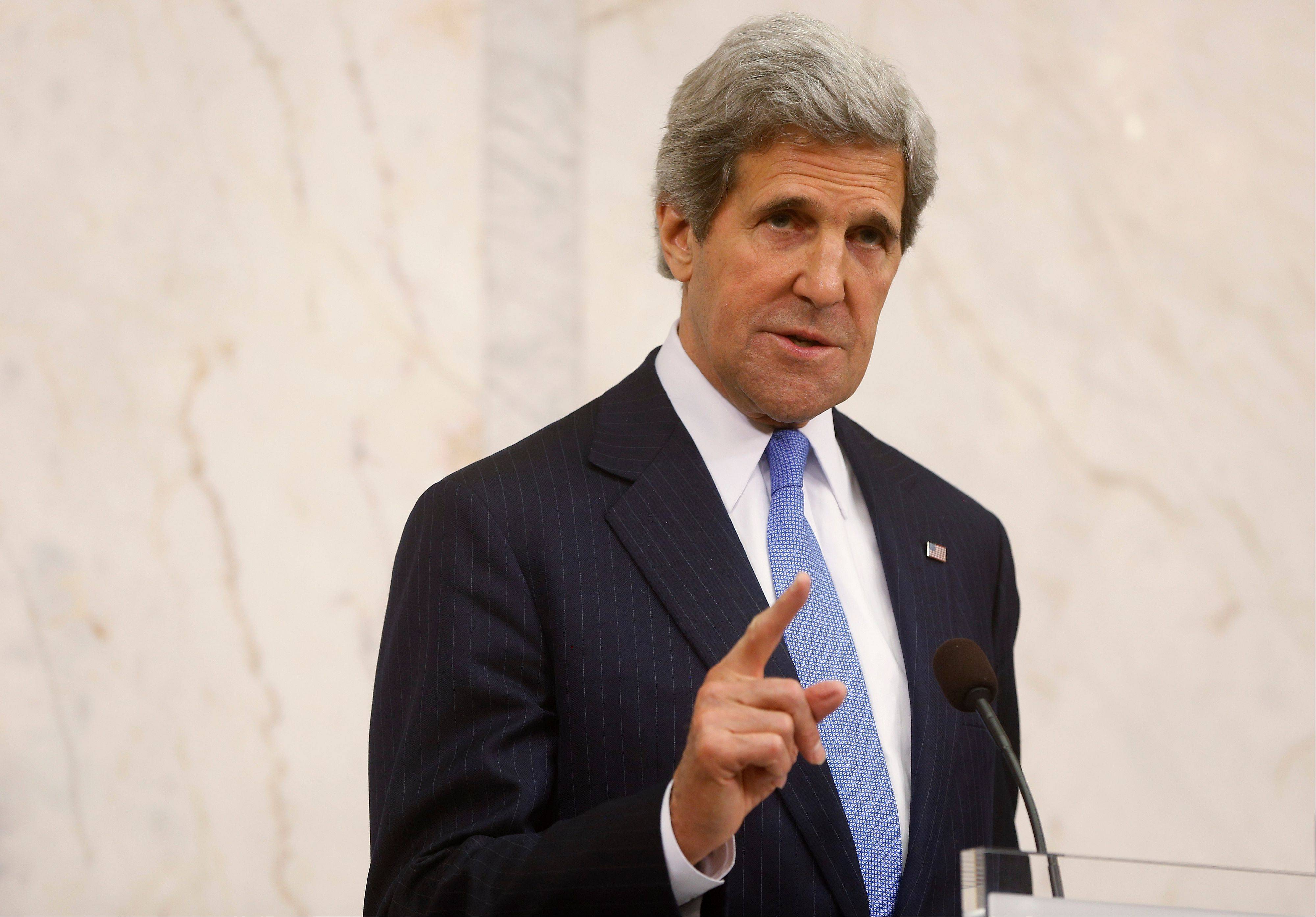 U.S. Secretary of State John Kerry issued a stern warning Tuesday to Syria's government, saying that new help will be given to opposition forces should President Bashar Assad's regime decide to back out of upcoming negotiations aimed at ending Syria's two-year war.