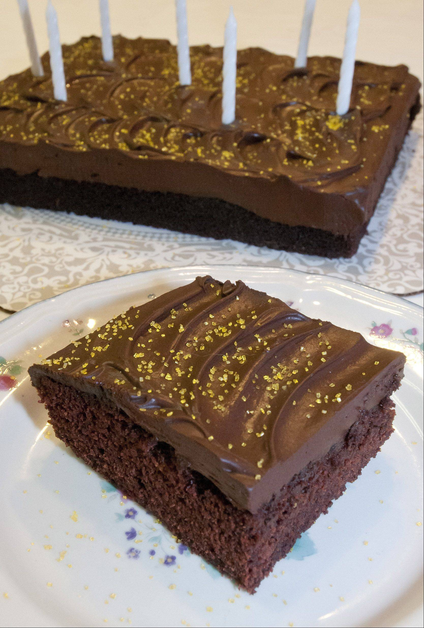 Annie Overboe tweaked her vegan chocolate cake so it can now be enjoyed by people who are gluten intolerant.