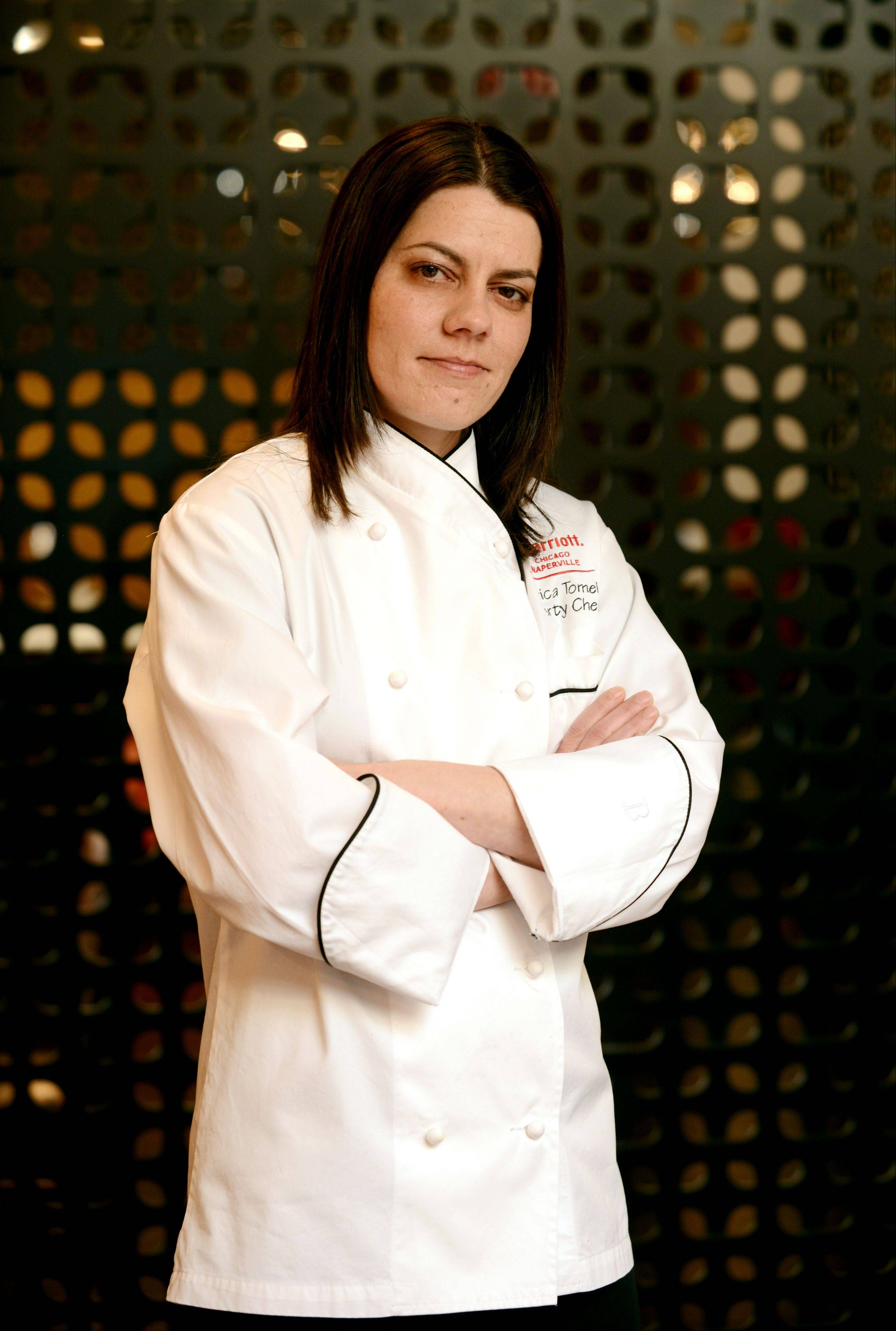 Chef Erica Tomei runs the pastry kitchens at the Chicago Marriott Naperville.