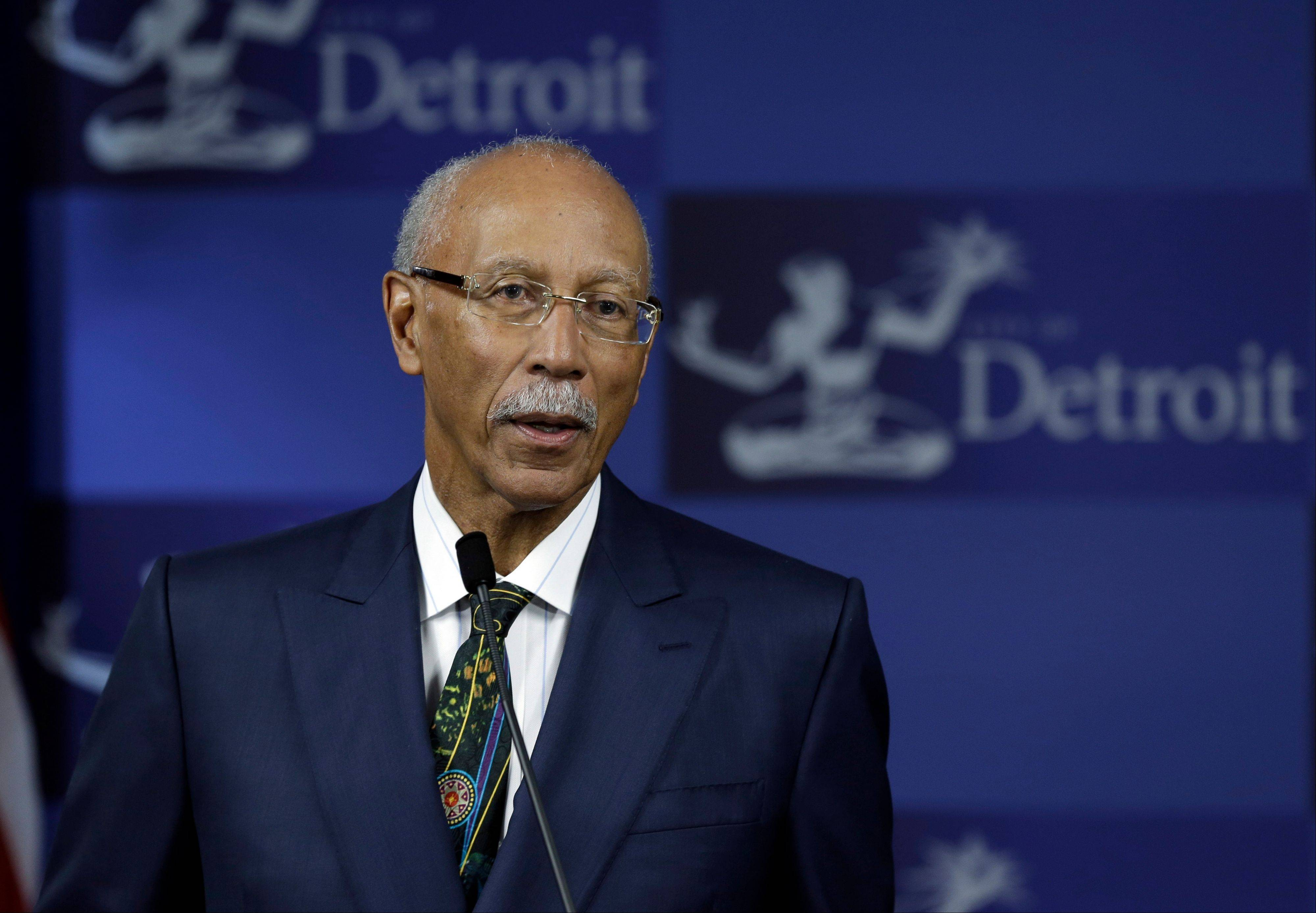Detroit Mayor Dave Bing announced Tuesday he won't seek a second term as leader of the financially troubled city, which recently became the largest in the country placed under state oversight.