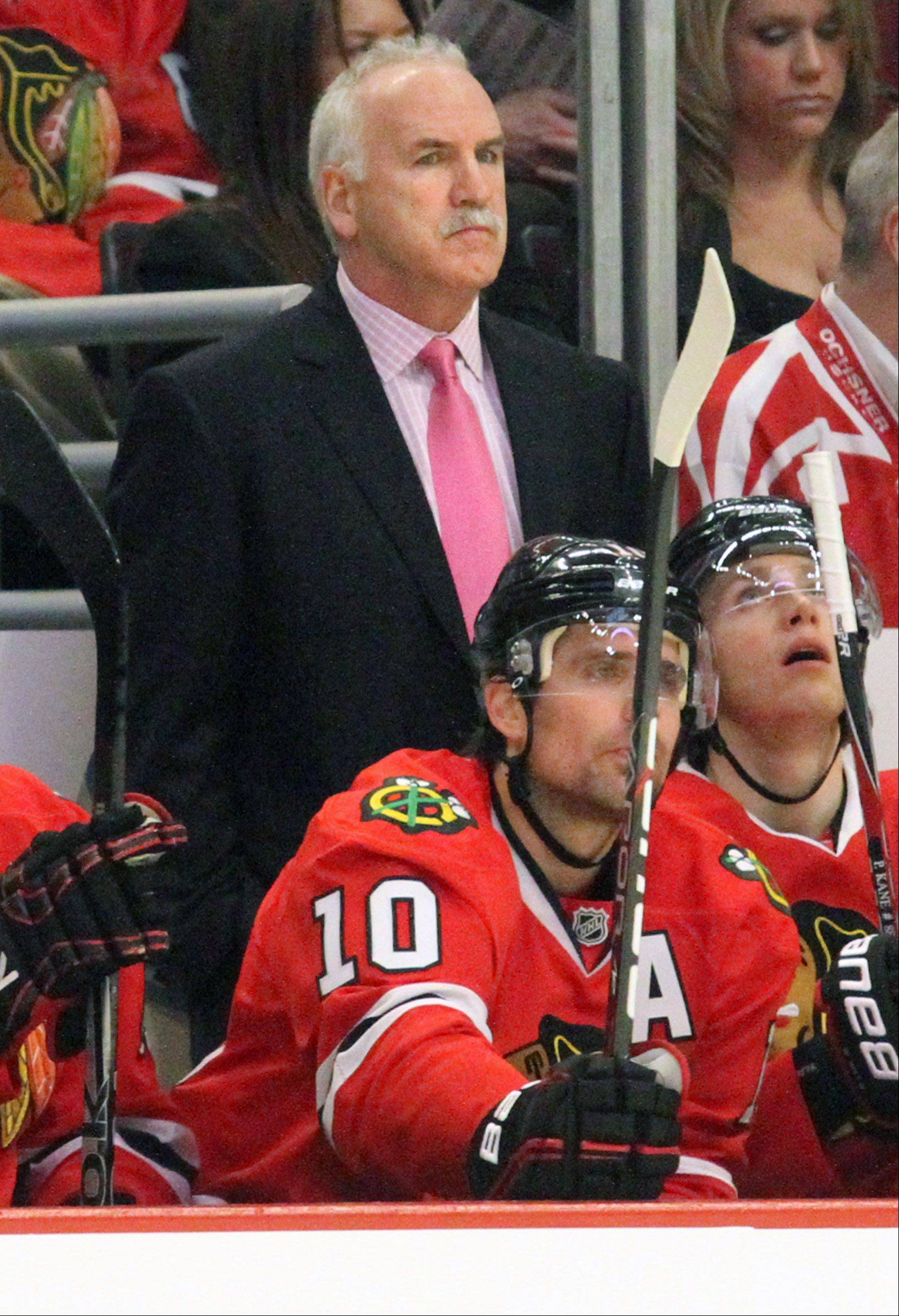 While some critics question the toughness of his Blackhawks roster, head coach Joel Quenneville says he defines toughness by players who don't lose their focus as they stick to their puck possession game.
