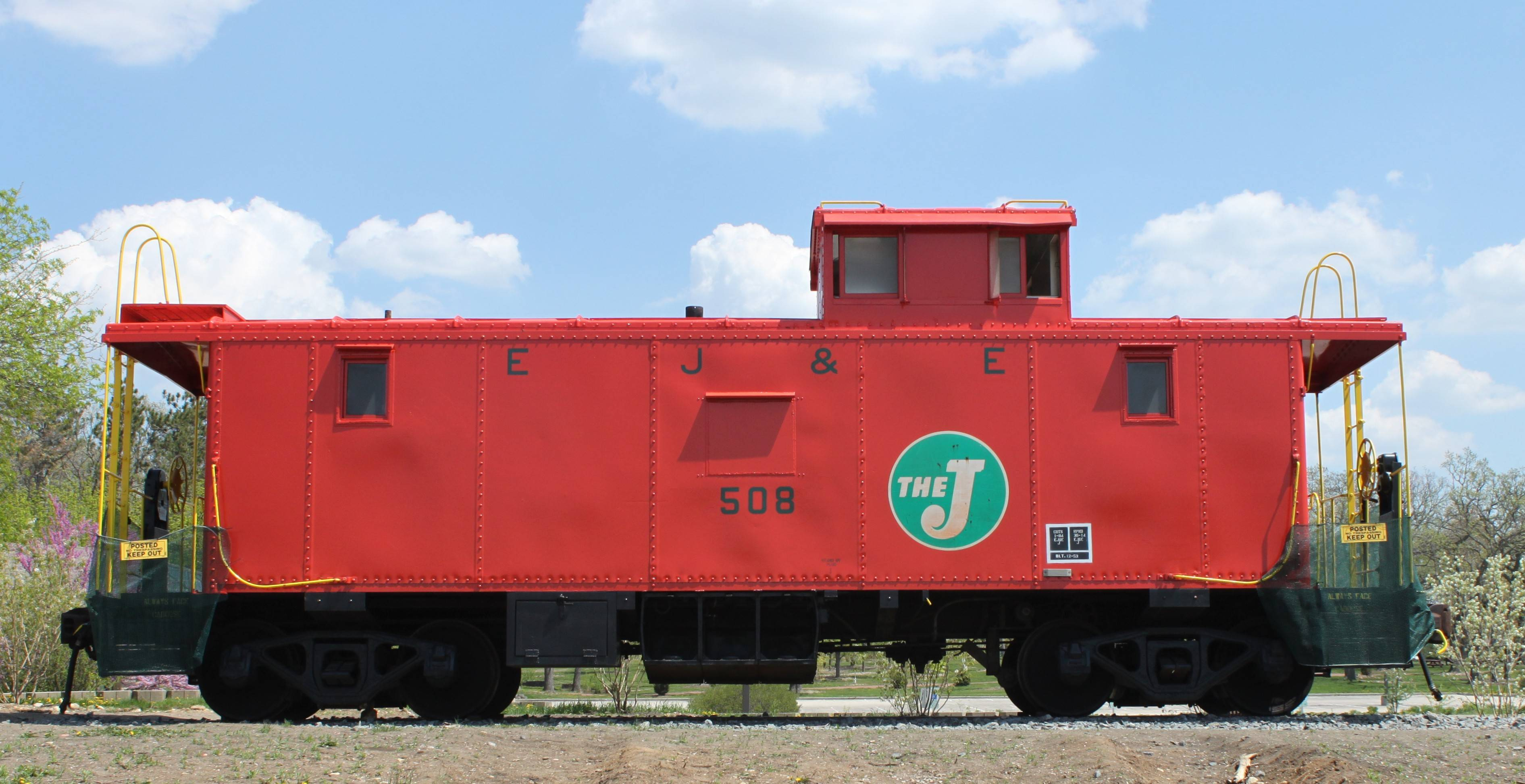 The EJ&E caboose is on display at Reed-Keppler Park in West Chicago.