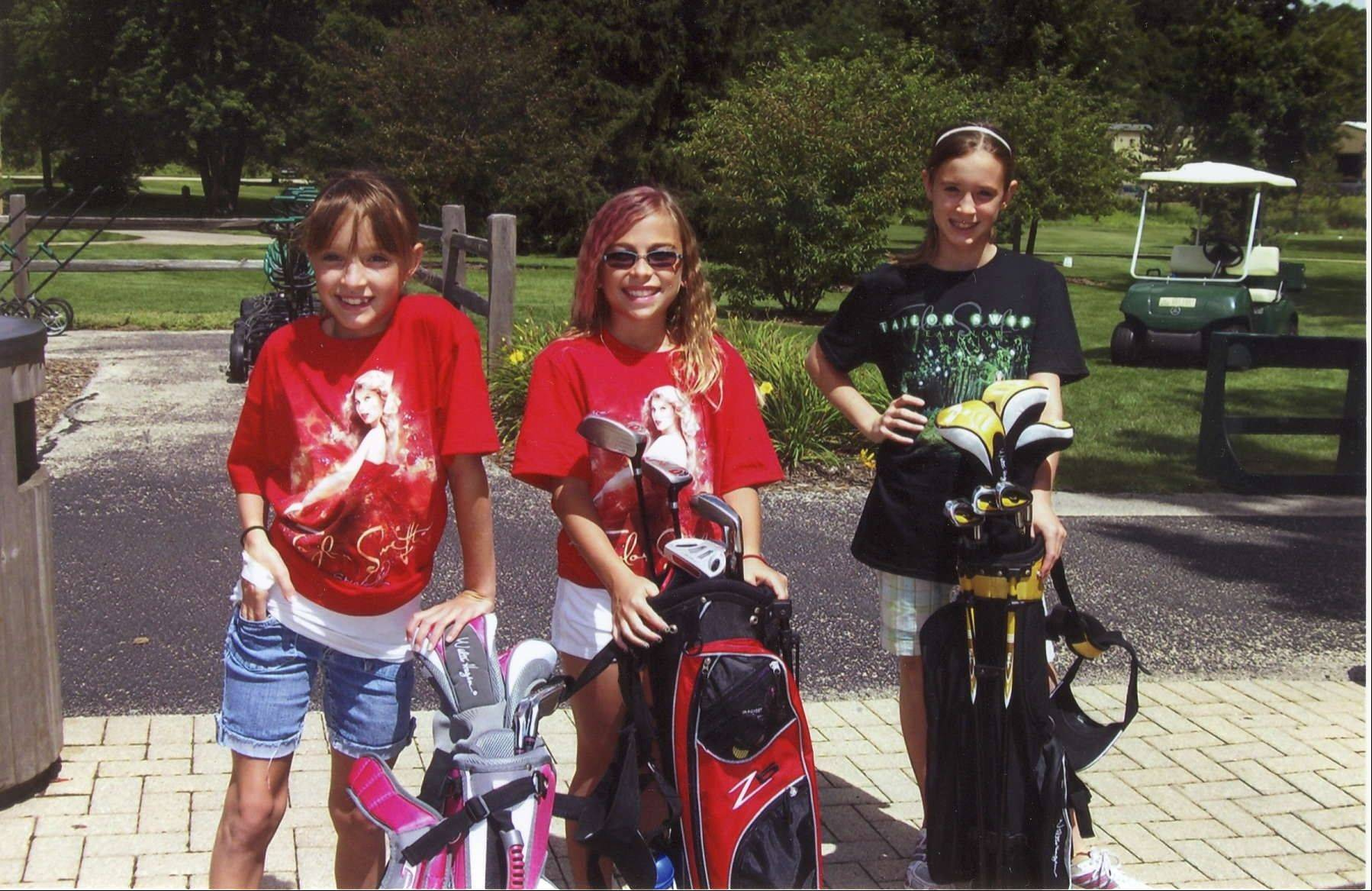 Members of the Junior Golf League enjoy a day out on the course at Apple Orchard.