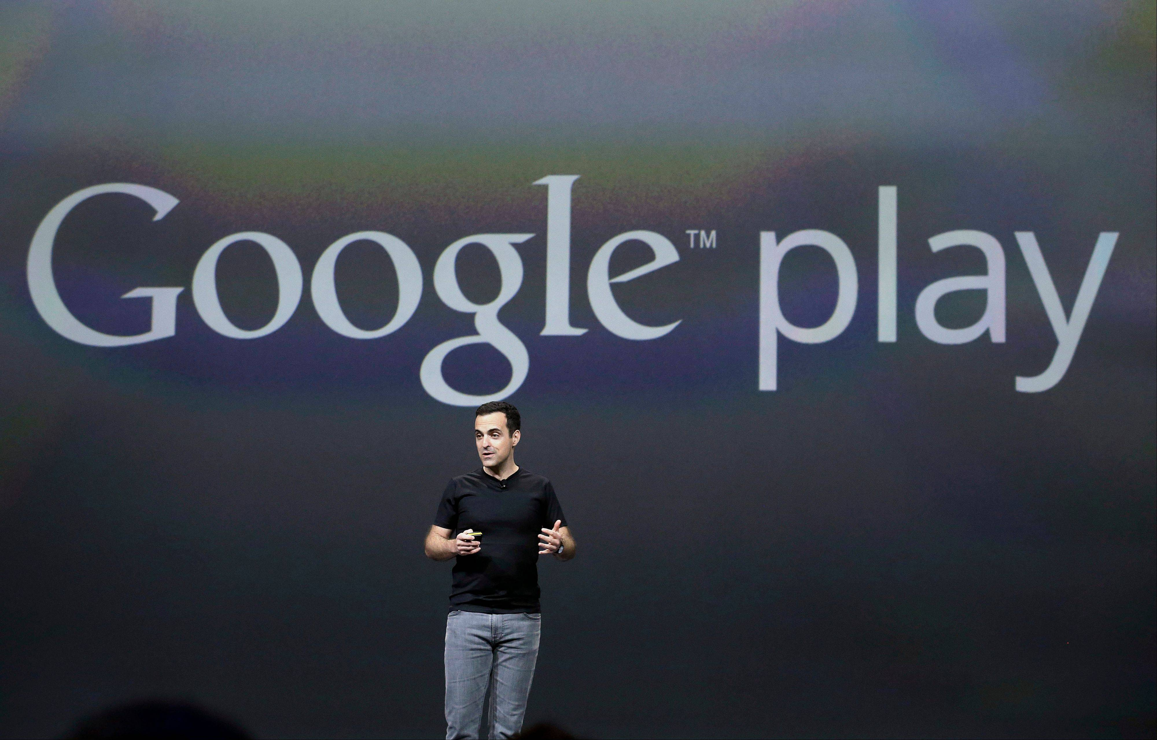 Hugo Barra, vice president, Android Product Management at Google, speaks at Google I/O 2013 in San Francisco Wednesday.